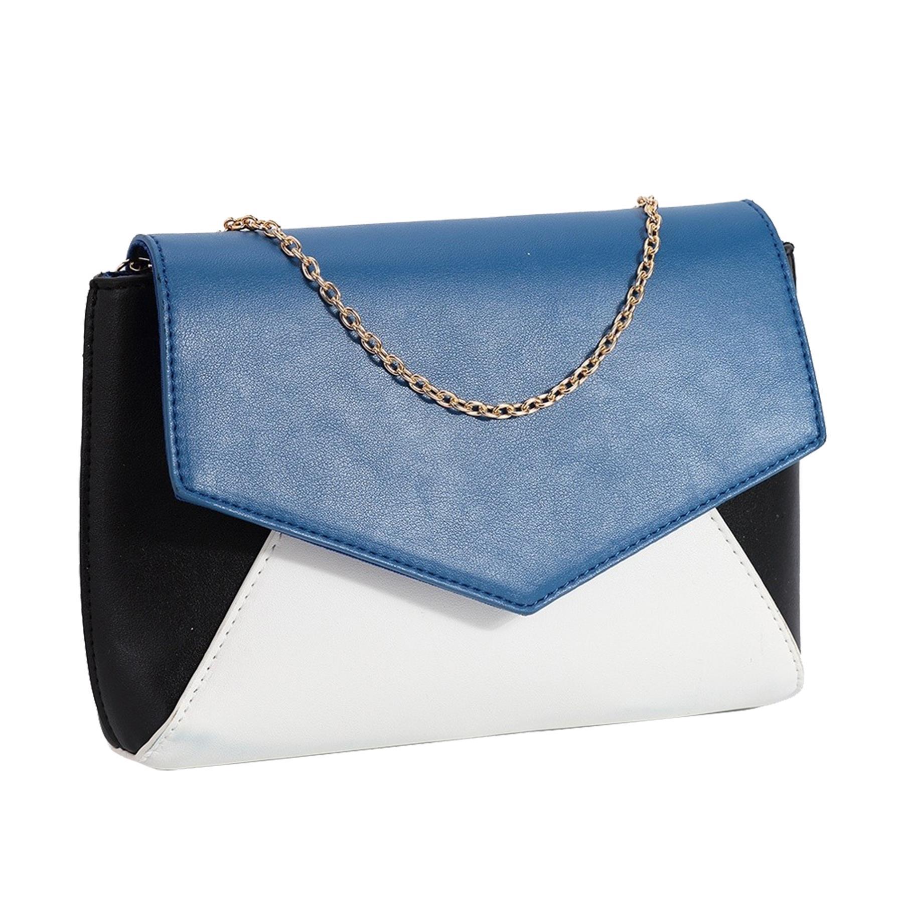 New-Women-s-Faux-Leather-Patent-Multicolour-Envelope-Clutch-Bag-Purse thumbnail 3