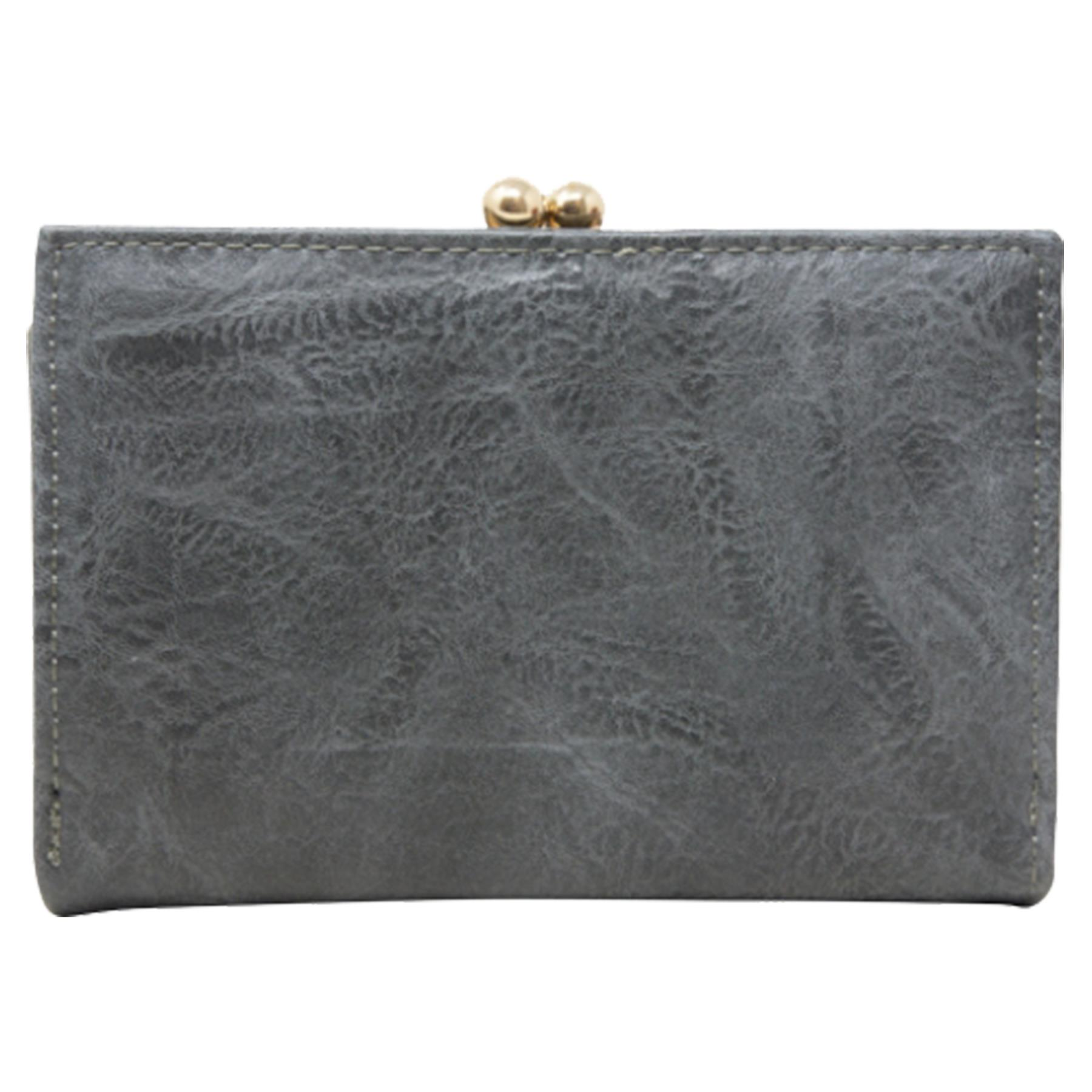 New-Synthetic-Leather-Kiss-Lock-Compartment-Ladies-Casual-Wallet-Purse thumbnail 16