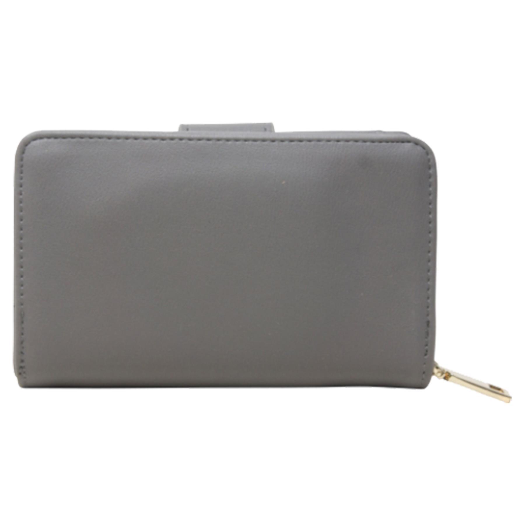 New-Ladies-Card-Slots-Zipped-Pocket-Faux-Leather-Basic-Wallet-Purse thumbnail 15