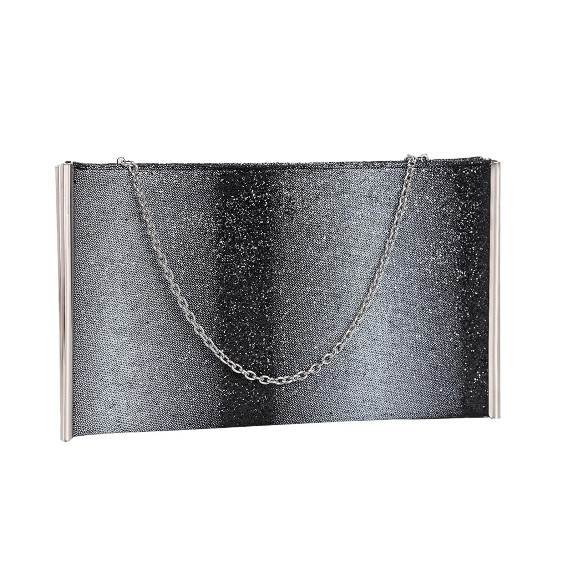 New-Ladies-Metallic-Trim-Velvet-Shimmer-Hologram-Croc-Evening-Clutch-Bag thumbnail 3