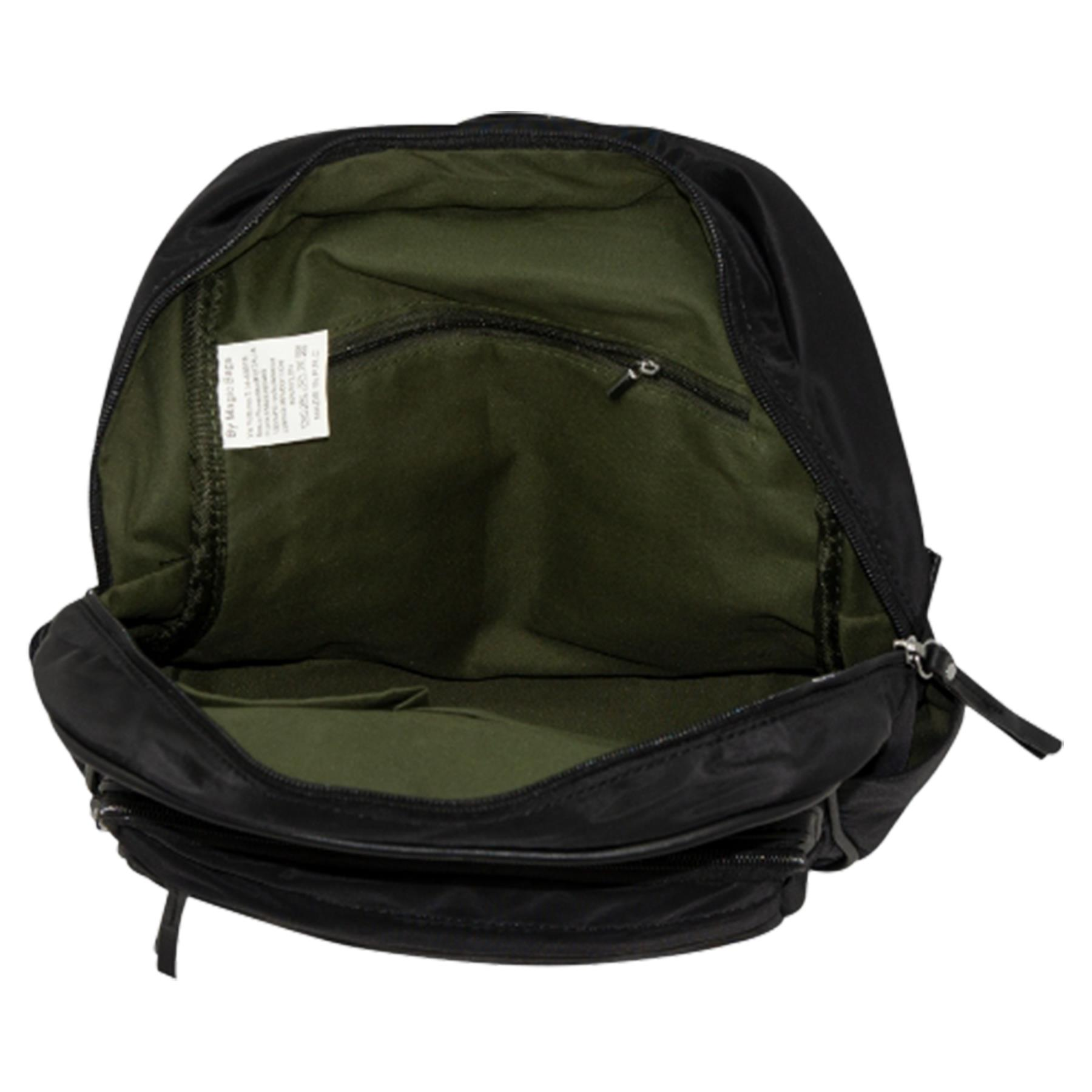 New-Unisex-Plain-Nylon-Showerproof-School-College-Backpack-Rucksack thumbnail 6