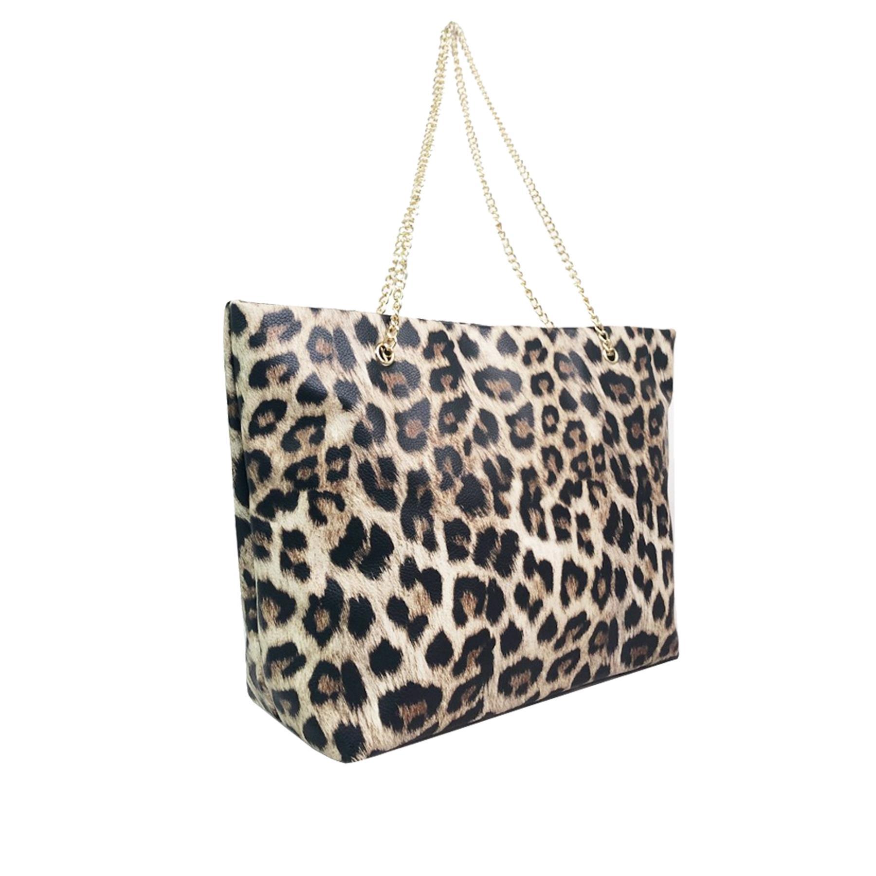 New-Women-s-Zebra-Leopard-Print-Faux-Leather-Fashion-Shoulder-Bags thumbnail 9