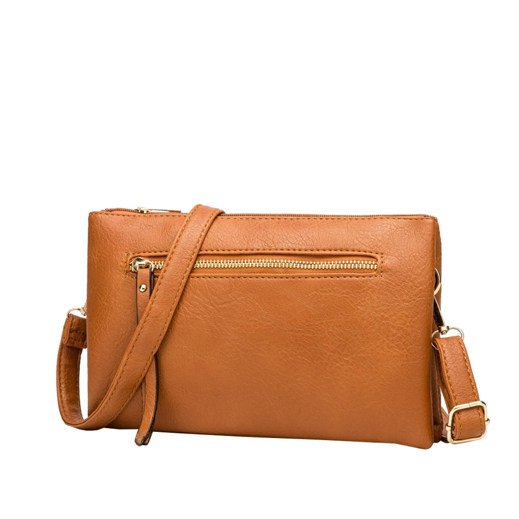 New-Plain-Synthetic-Leather-Women-s-Simple-Casual-Cross-Body-Bag thumbnail 15