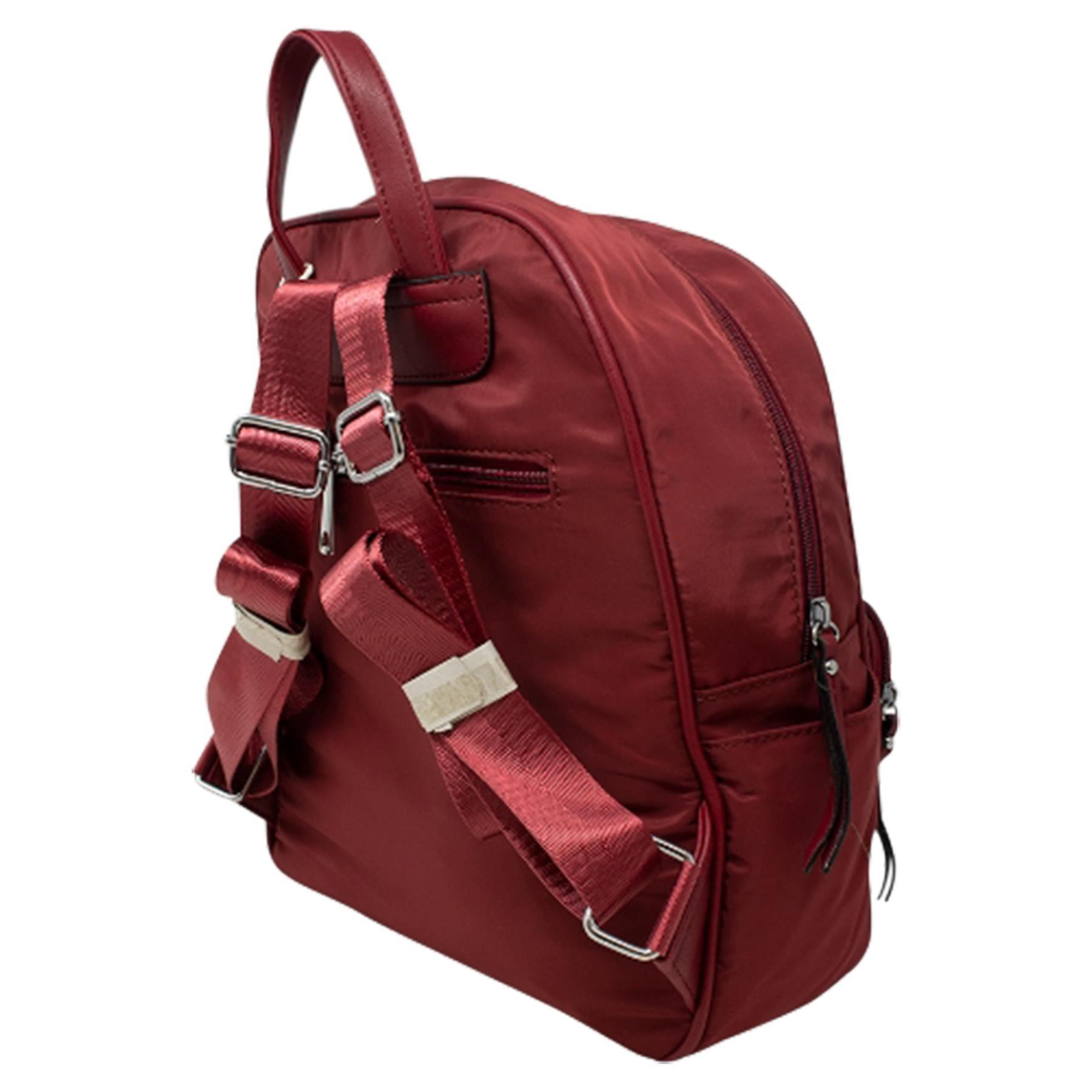 New-Unisex-Plain-Nylon-Showerproof-School-College-Backpack-Rucksack thumbnail 24