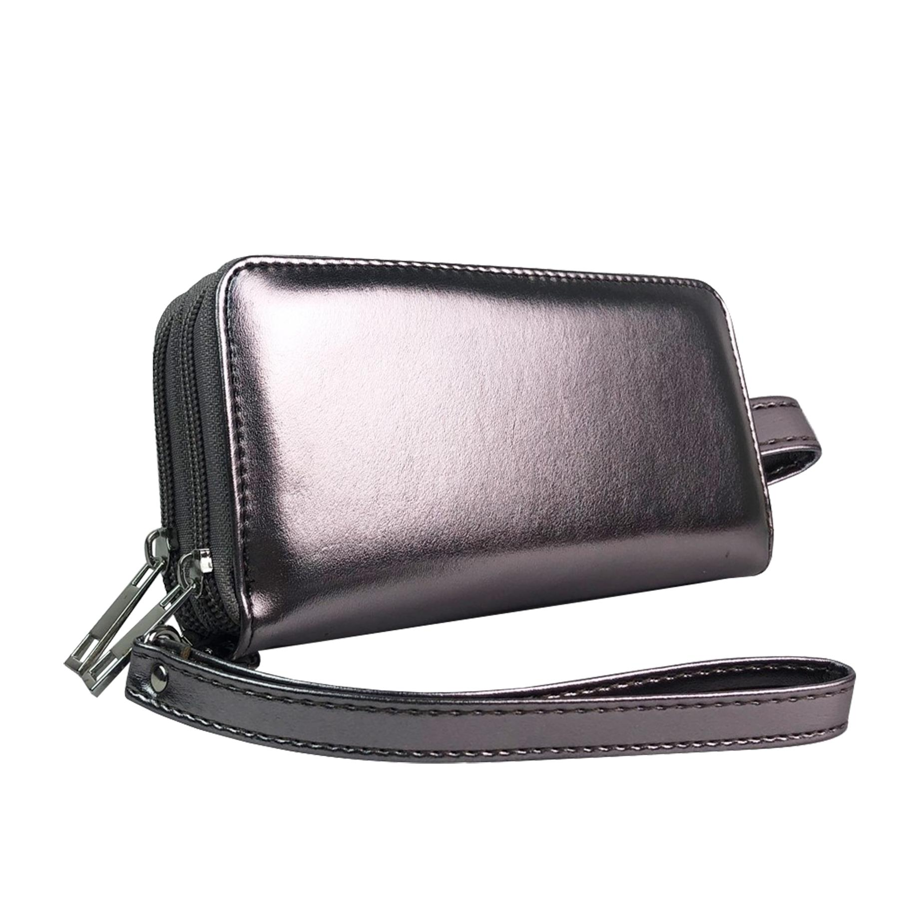 New-Ladies-Faux-Leather-Money-Organiser-Large-Wristlet-Purse-Wallet thumbnail 26