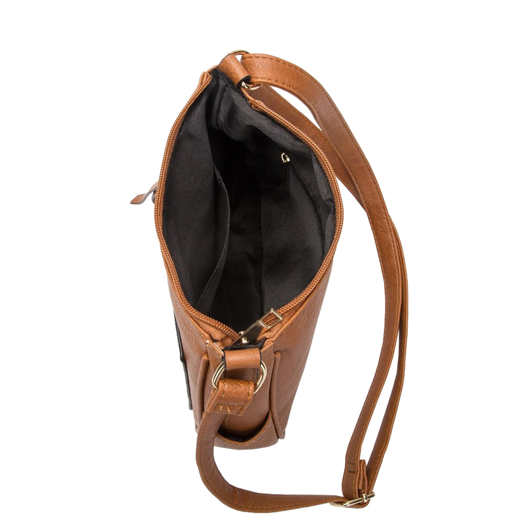 New-Women-s-Front-Zip-Faux-Leather-Basic-Small-Crossbody-Messenger-Bag thumbnail 16