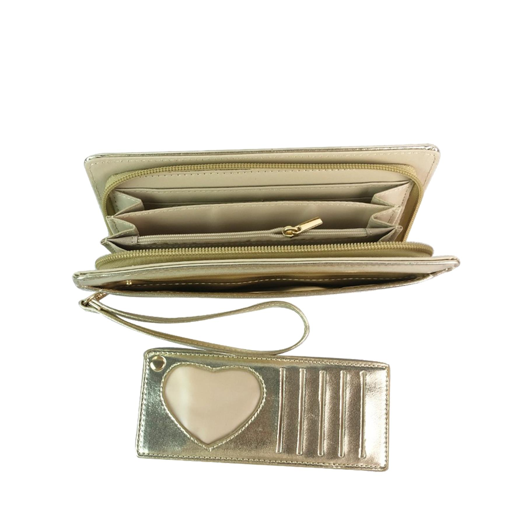 New-Ladies-Faux-Leather-Money-Organiser-Large-Wristlet-Purse-Wallet thumbnail 36