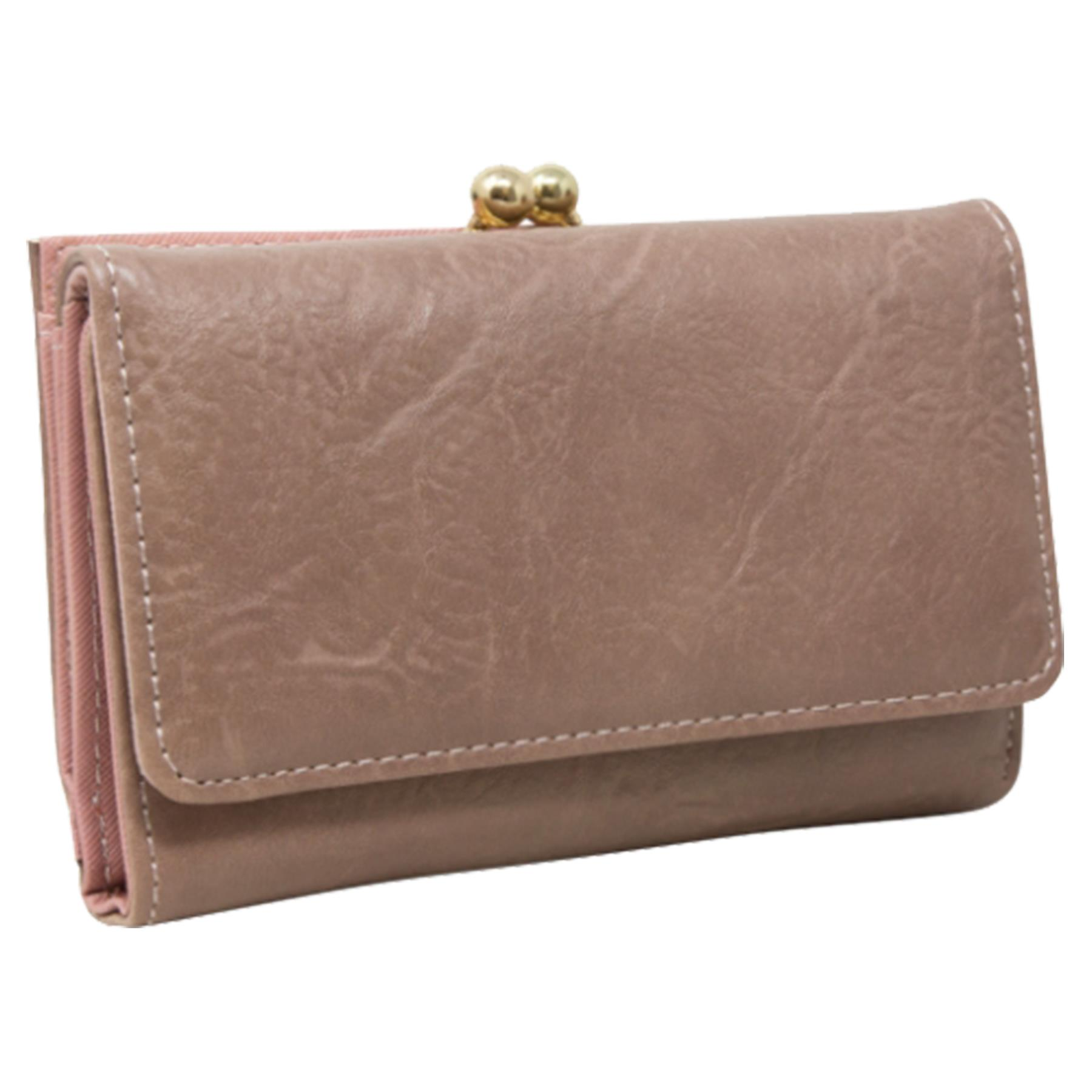 New-Synthetic-Leather-Kiss-Lock-Compartment-Ladies-Casual-Wallet-Purse thumbnail 19