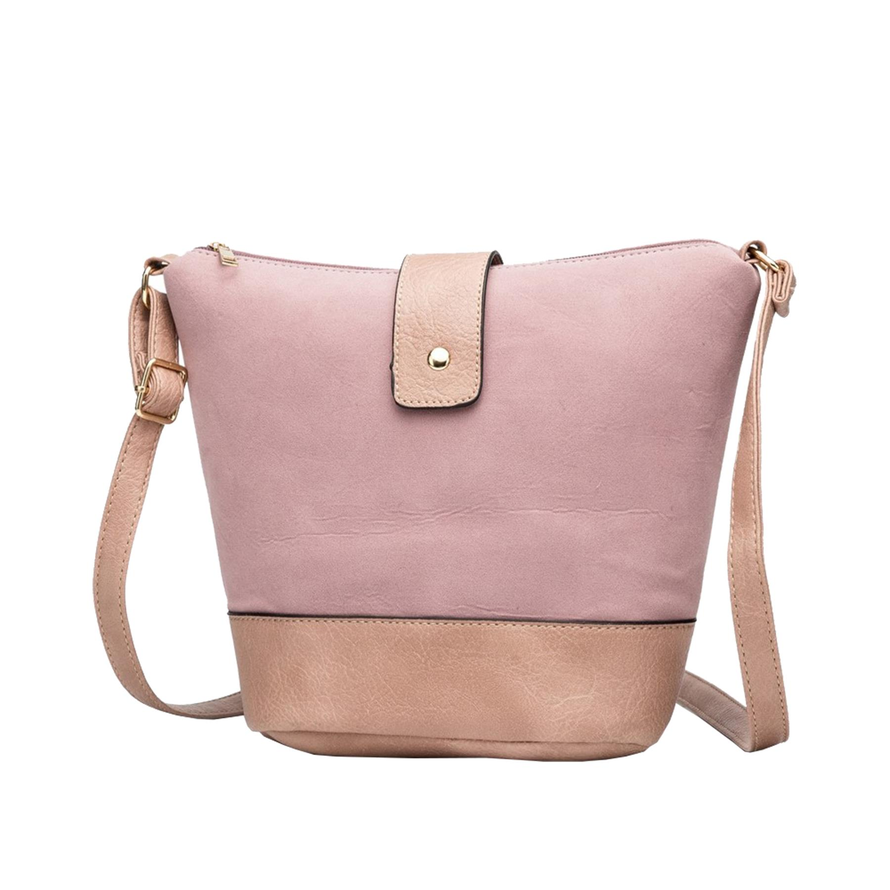 New-Ladies-Two-Toned-Faux-Leather-Fashion-Shoulder-Cross-Body-Bag thumbnail 9