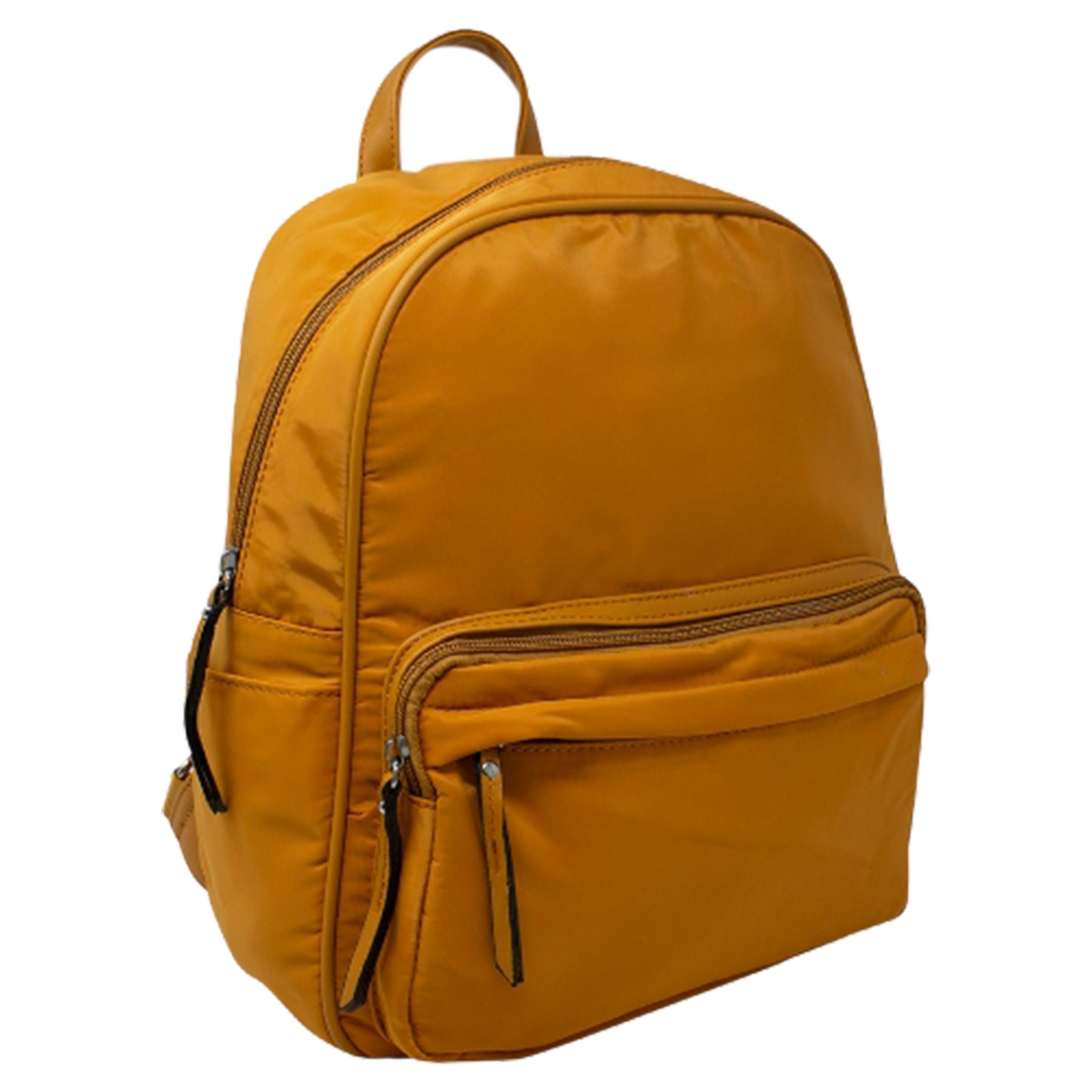 New-Unisex-Plain-Nylon-Showerproof-School-College-Backpack-Rucksack thumbnail 32