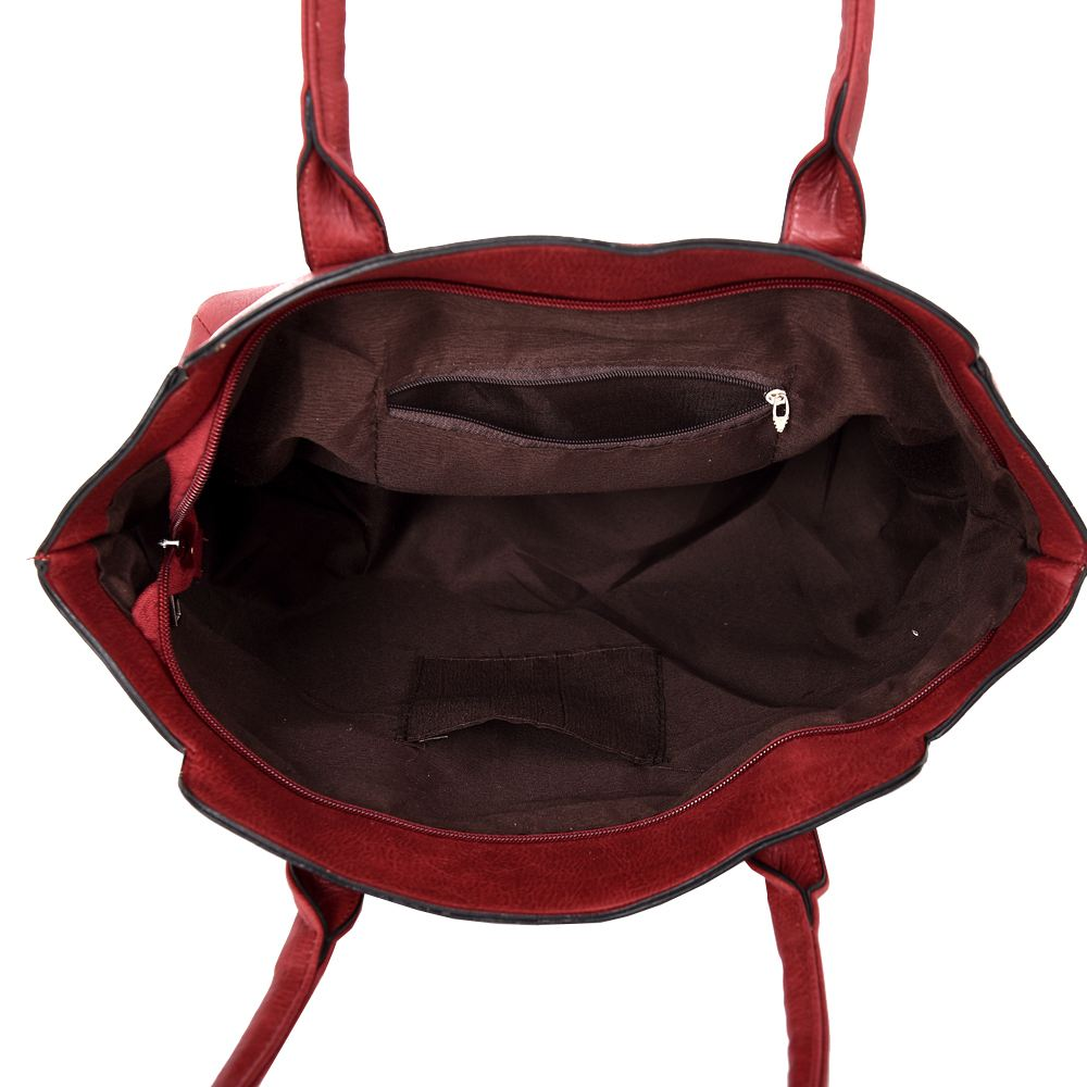 New Studs Detail Faux Leather Women's Winged Tote Shopper Bag