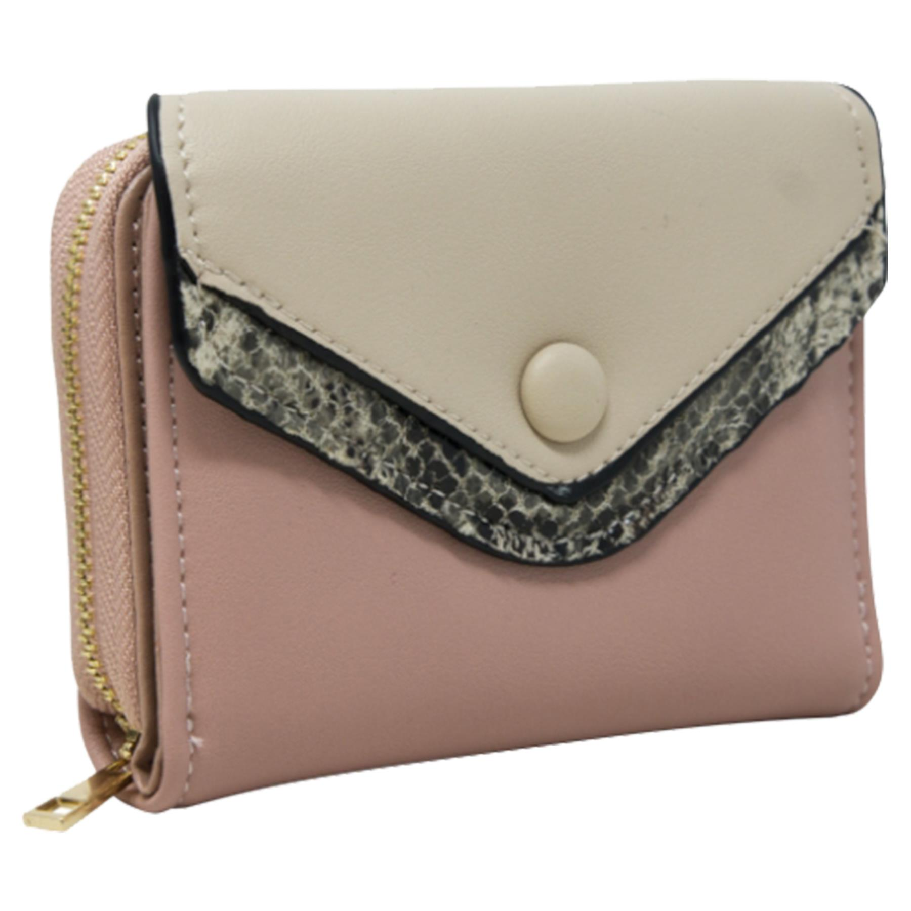 New-Ladies-Multicoloured-Envelope-Faux-Leather-Reptile-Detail-Purse thumbnail 23