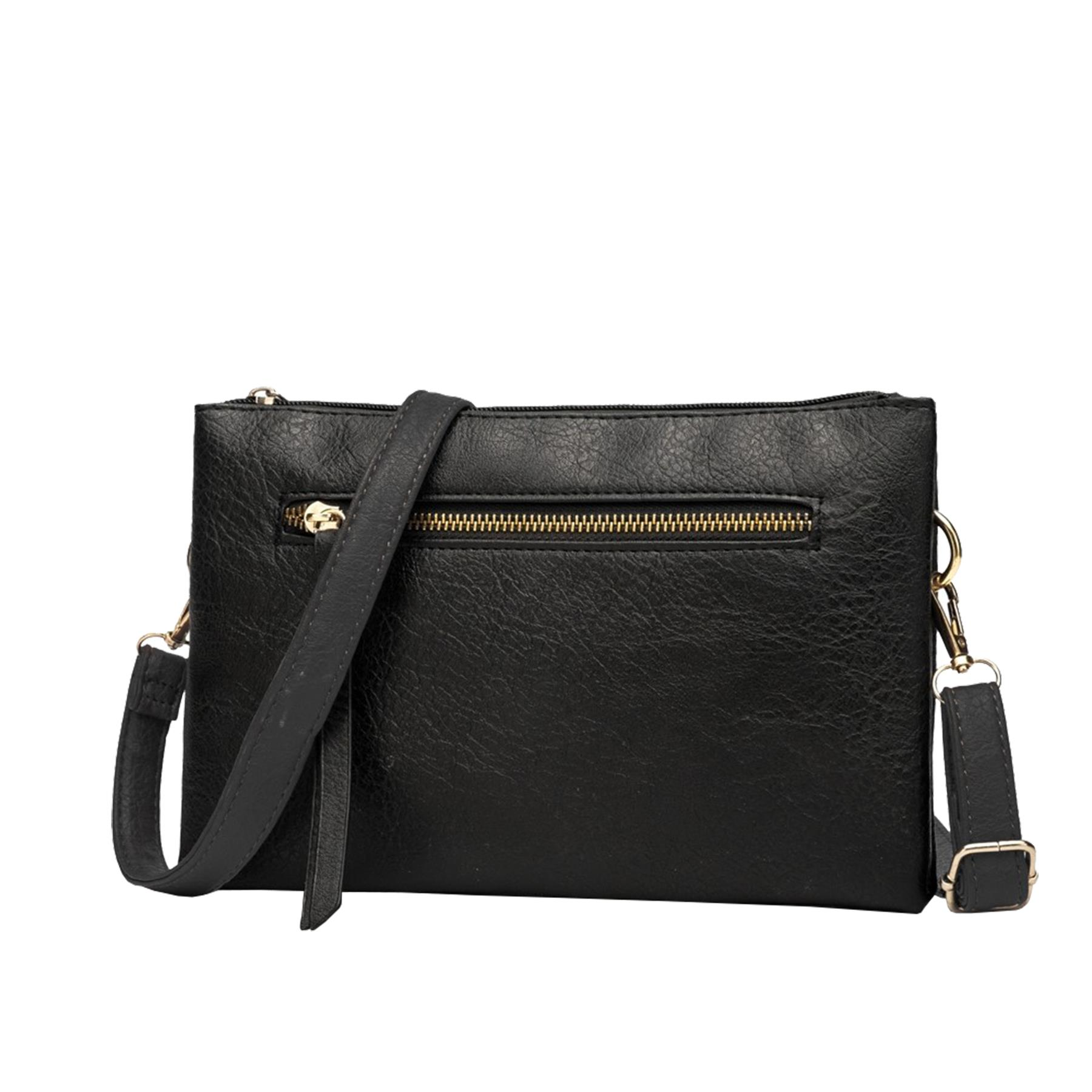 New-Plain-Synthetic-Leather-Women-s-Simple-Casual-Cross-Body-Bag thumbnail 3