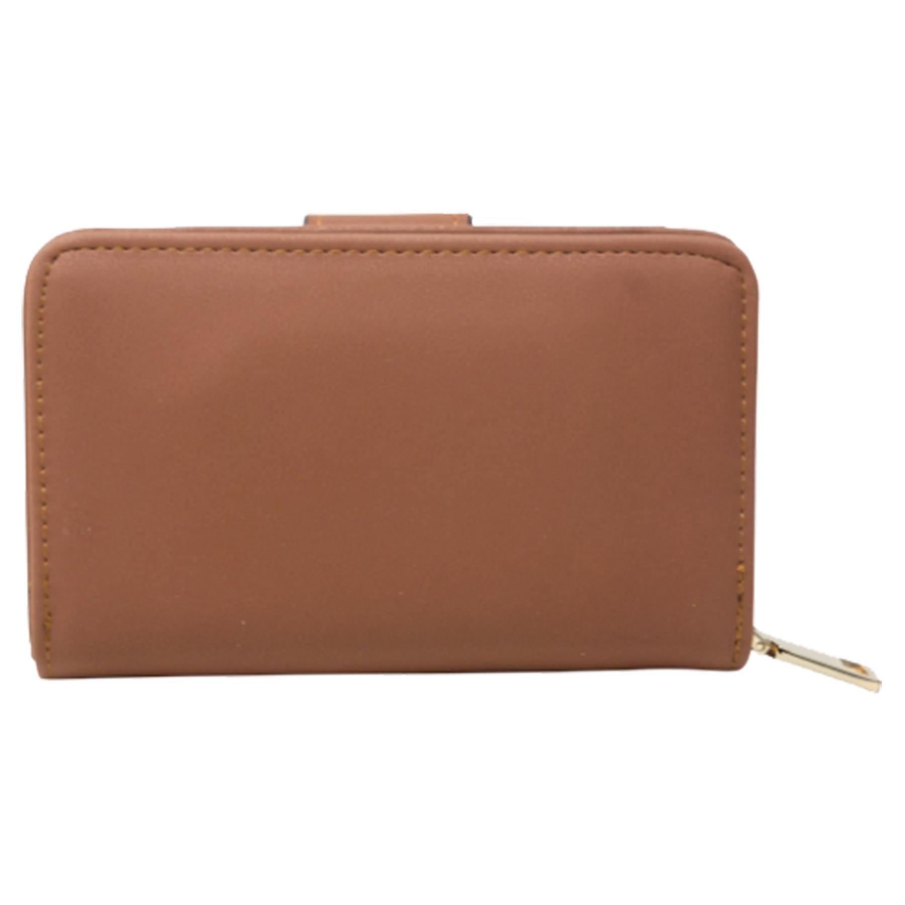 New-Ladies-Card-Slots-Zipped-Pocket-Faux-Leather-Basic-Wallet-Purse thumbnail 11