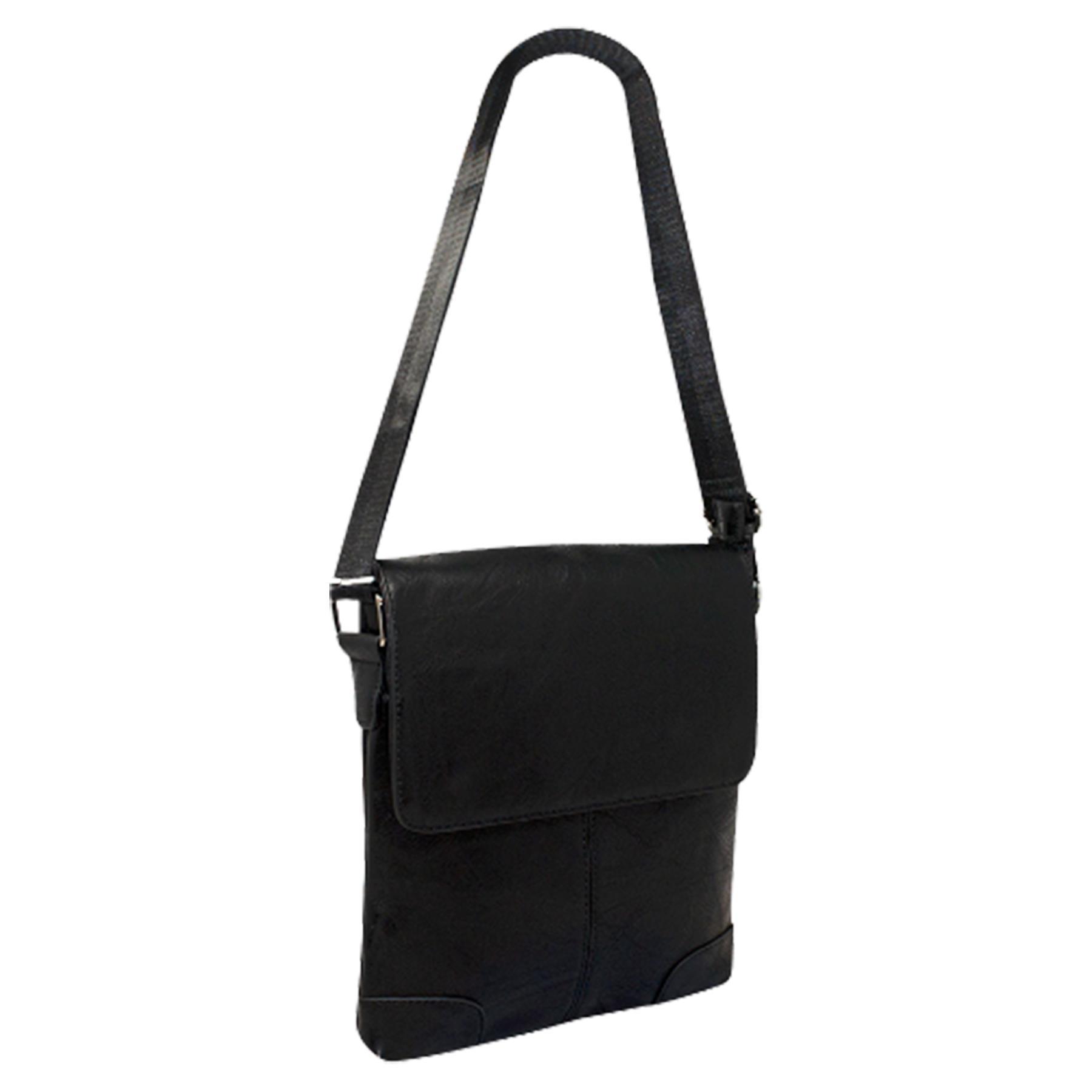 New-Plain-Faux-Leather-Men-s-Travel-Casual-Flap-Over-Messenger-Bag thumbnail 3