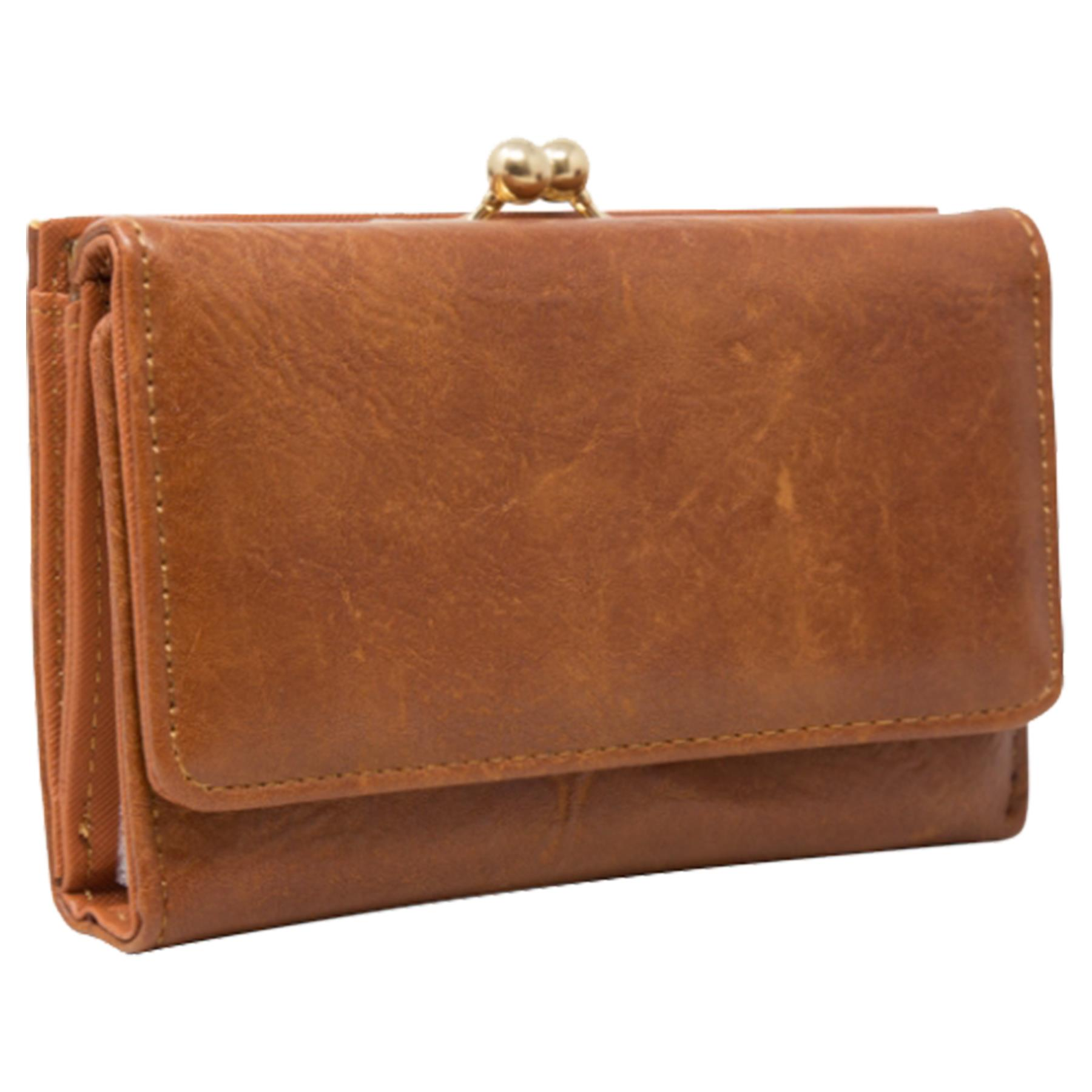 New-Synthetic-Leather-Kiss-Lock-Compartment-Ladies-Casual-Wallet-Purse thumbnail 11