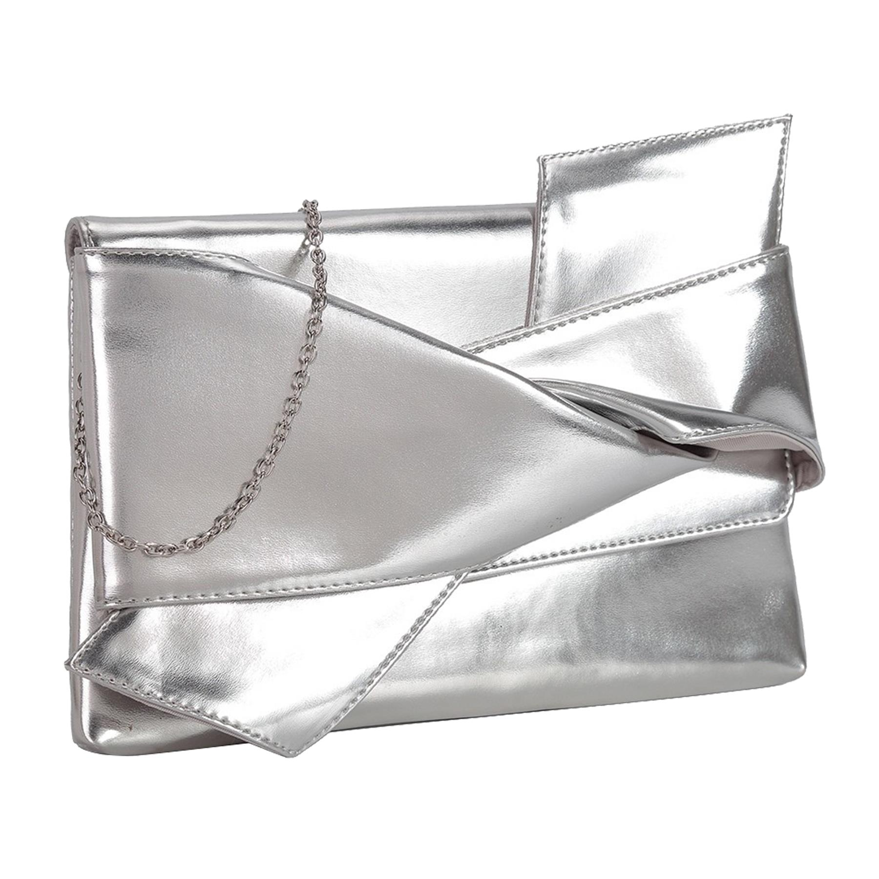 New-Knot-Detail-Shiny-Synthetic-Leather-Ladies-Party-Clutch-Bag-Purse thumbnail 15