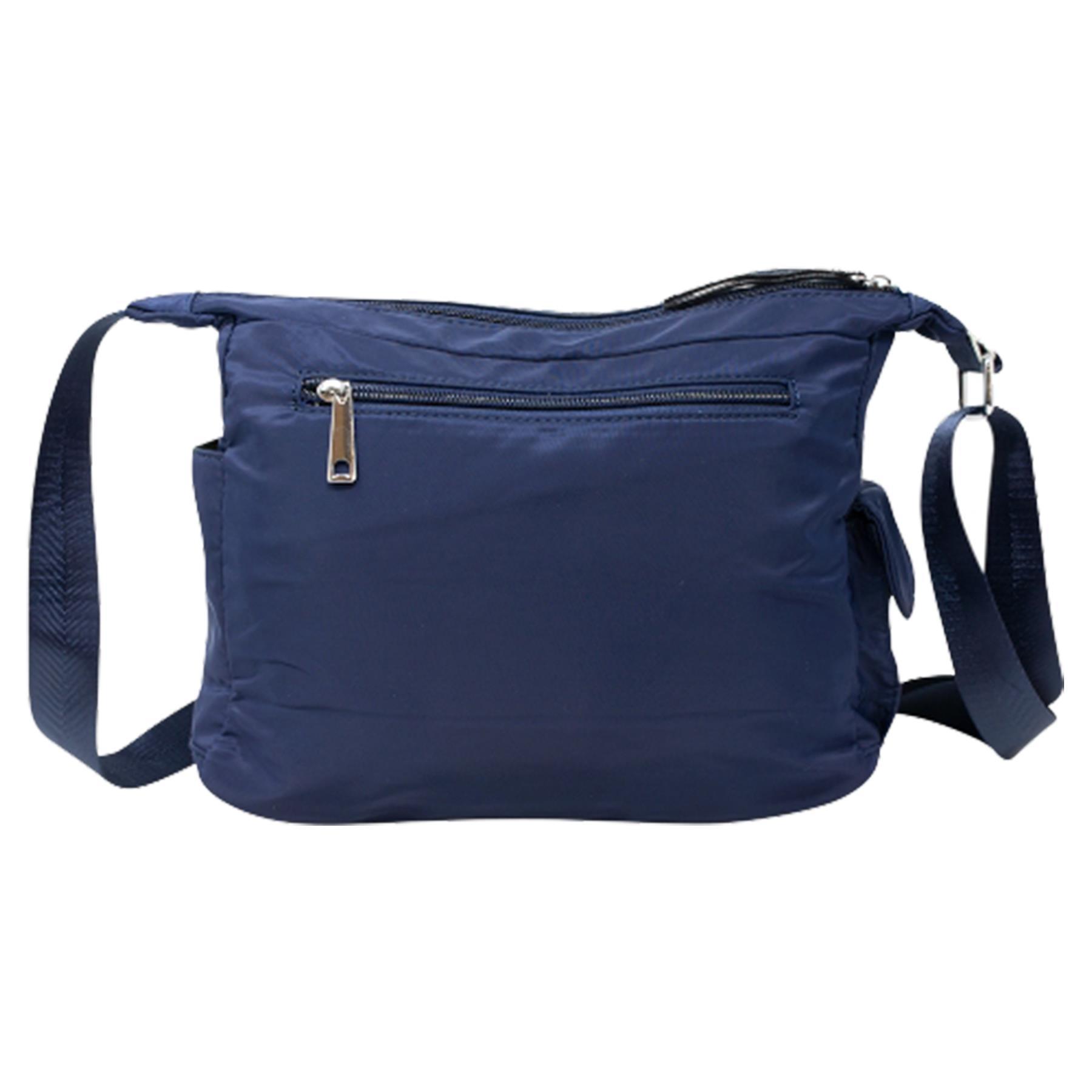 New-Ladies-Men-s-Showerproof-School-College-Practical-Basic-Crossbody-Bag thumbnail 14
