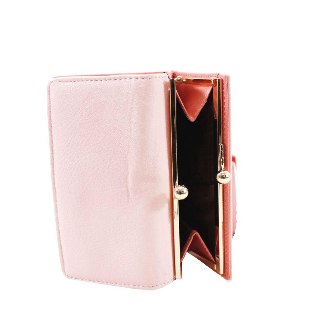 NUOVO Pelle Sintetica tasca esterna fessure schede Women/'s Wallet Purse