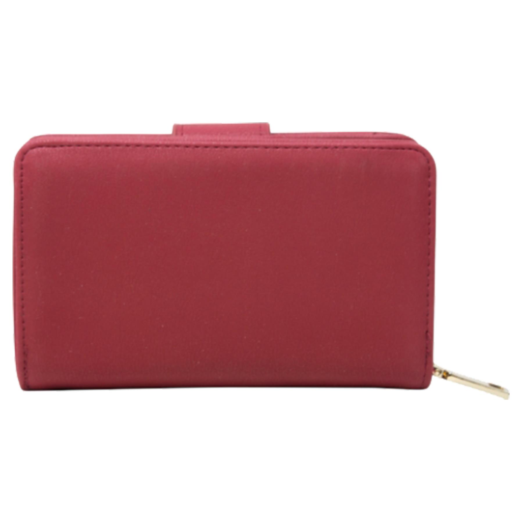 New-Ladies-Card-Slots-Zipped-Pocket-Faux-Leather-Basic-Wallet-Purse thumbnail 19
