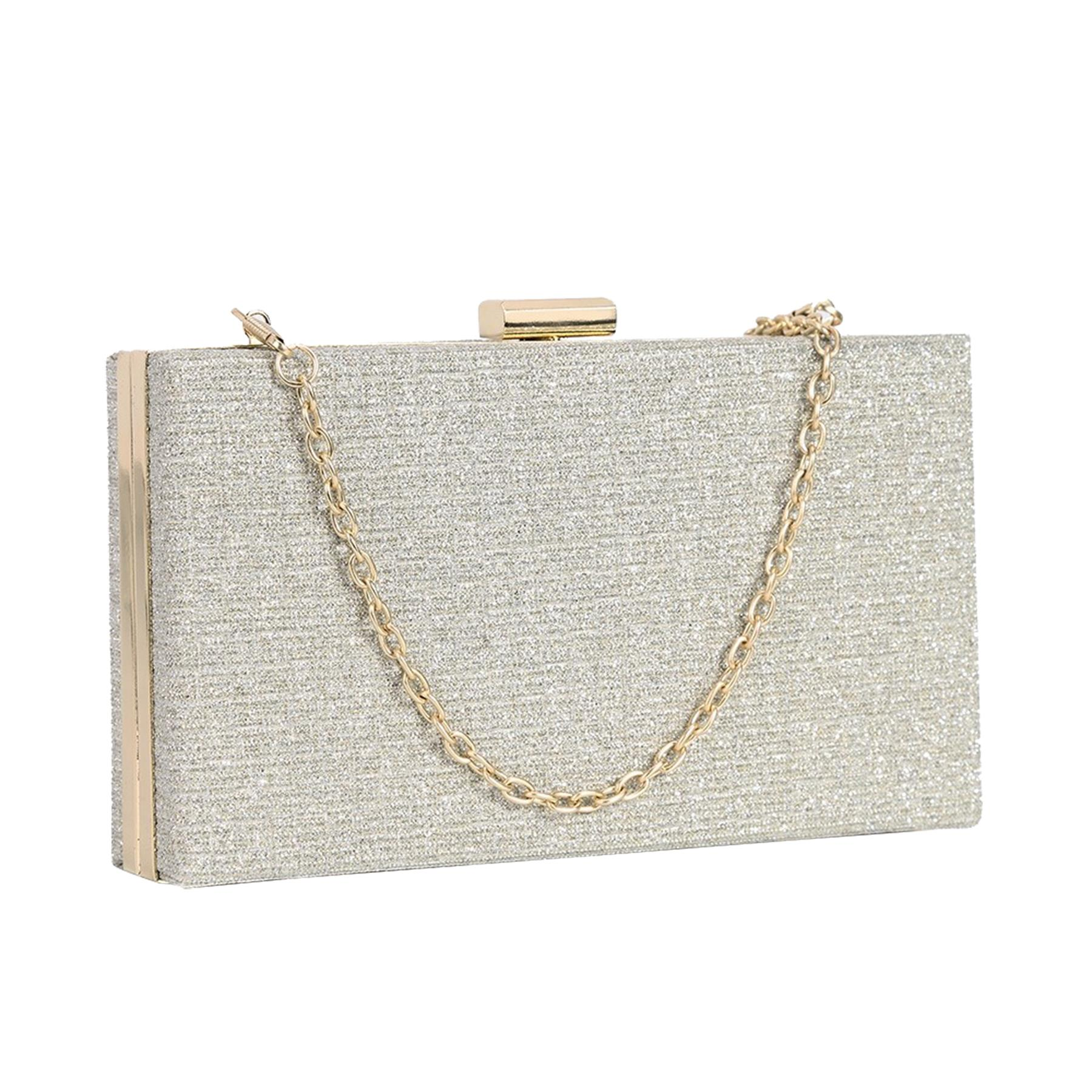 New-Sparkly-Shimmer-Glitter-Chain-Ladies-Hard-Compact-Bridal-Clutch-Bag-Purse thumbnail 6
