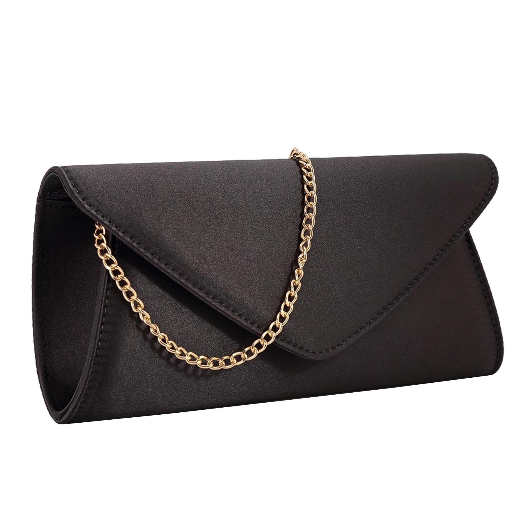 New-Ladies-Stylish-3D-Envelope-Satin-Prom-Party-Clutch-Bag-Purse thumbnail 3