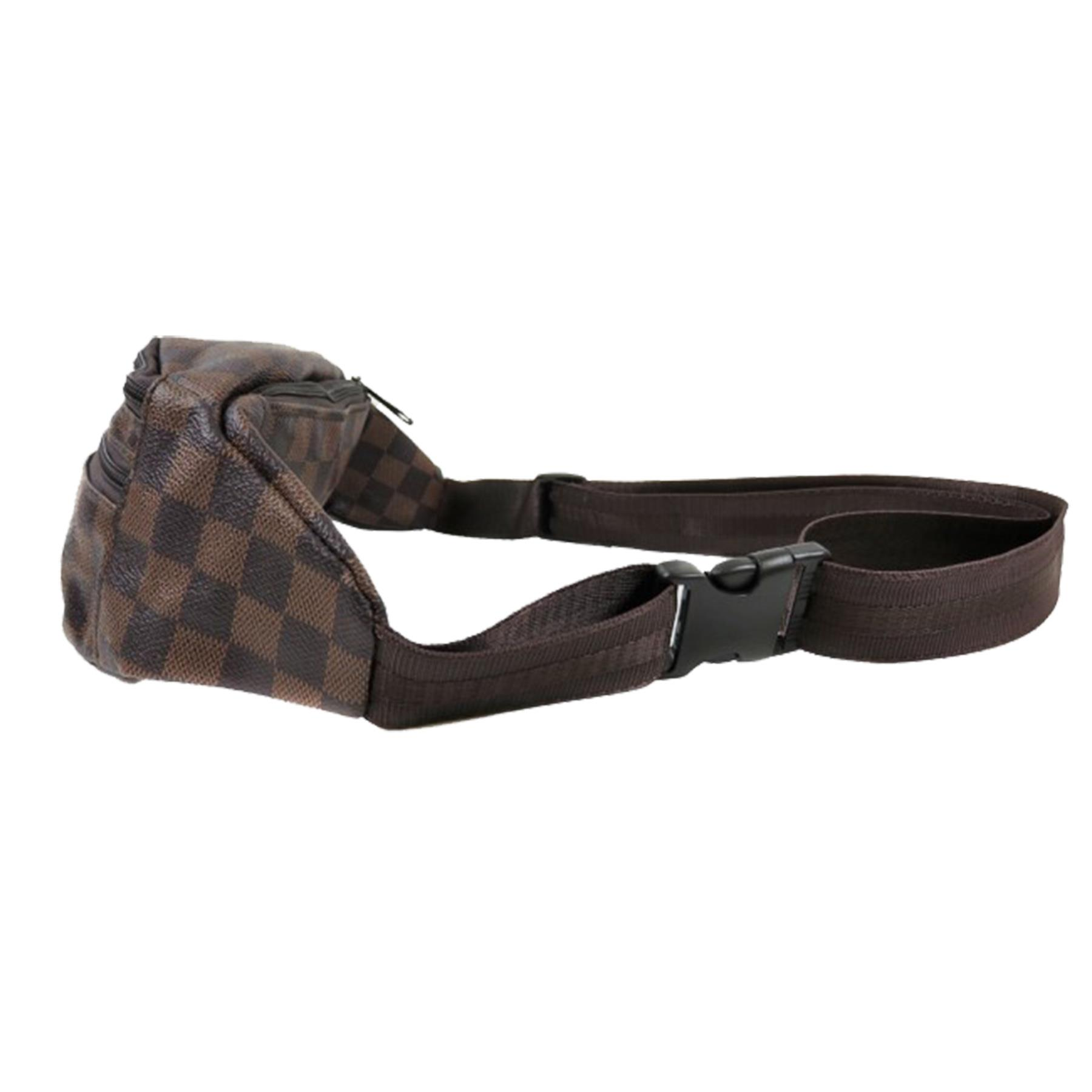 New-Women-s-Checked-Design-Synthetic-Leather-Fashion-Bum-Hip-Belt-Bag thumbnail 4