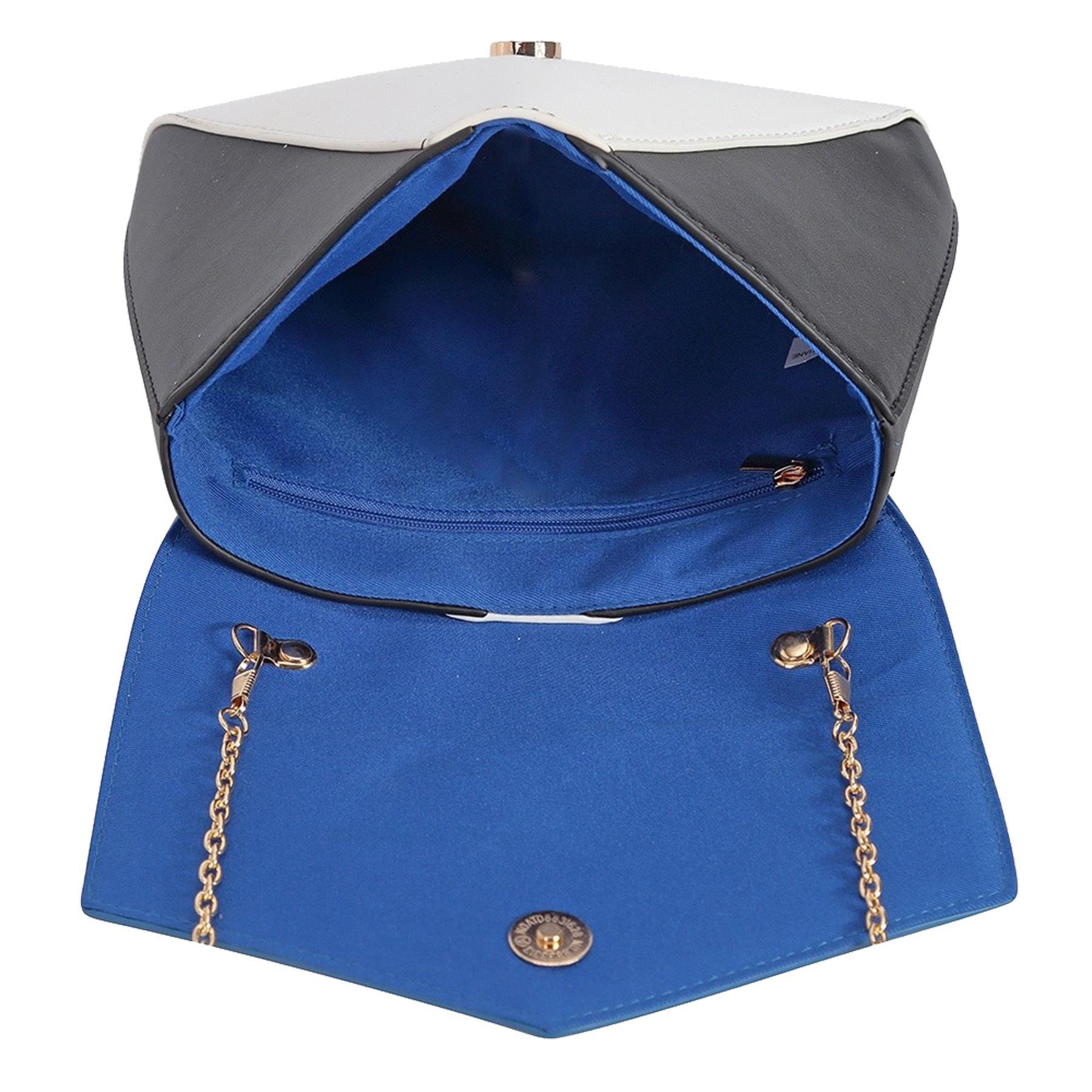 New-Women-s-Faux-Leather-Patent-Multicolour-Envelope-Clutch-Bag-Purse thumbnail 4