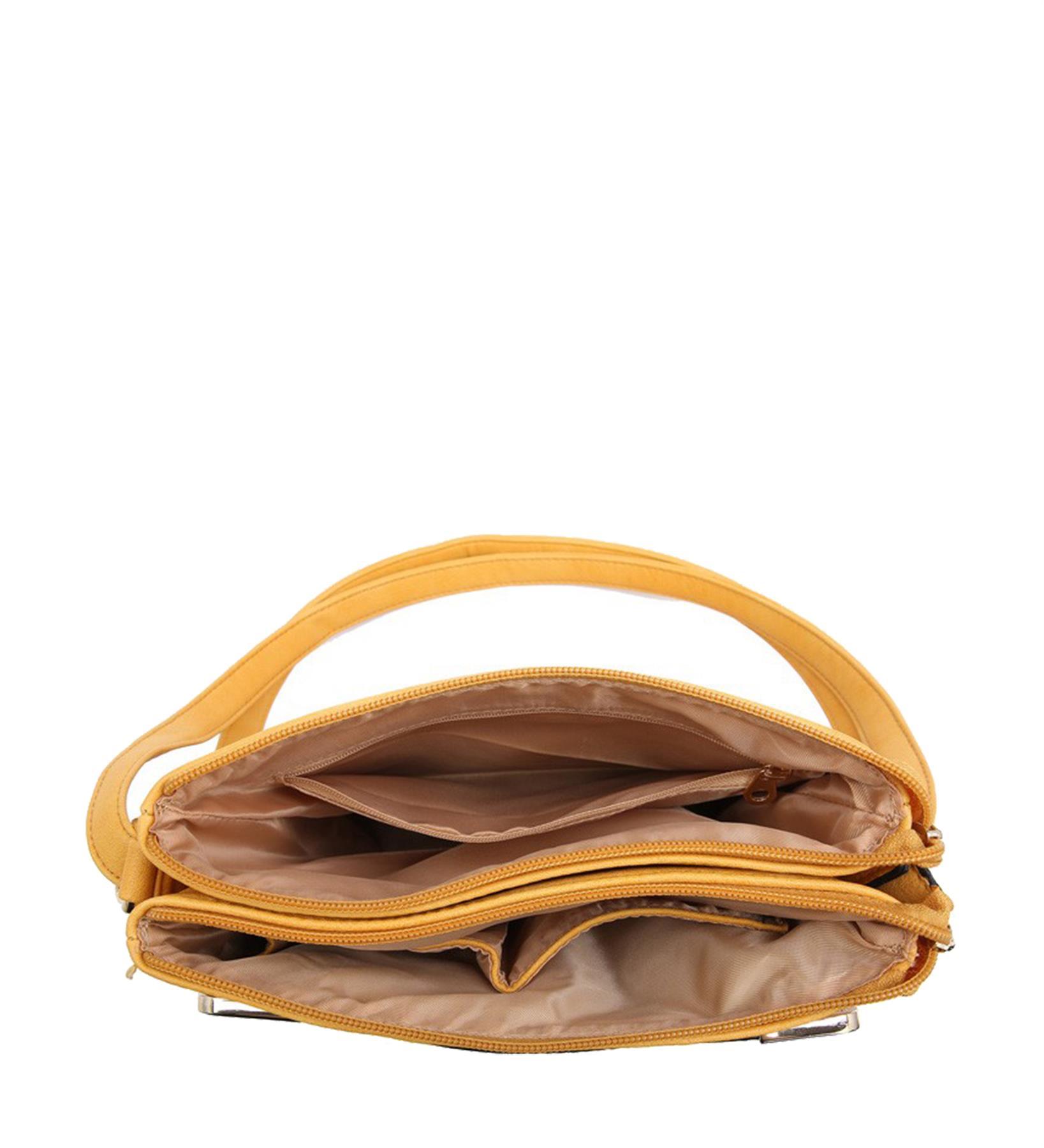 New-Casual-Ladies-Multi-Pocket-Metallic-Detail-Adjustable-Crossbody-Bag thumbnail 10