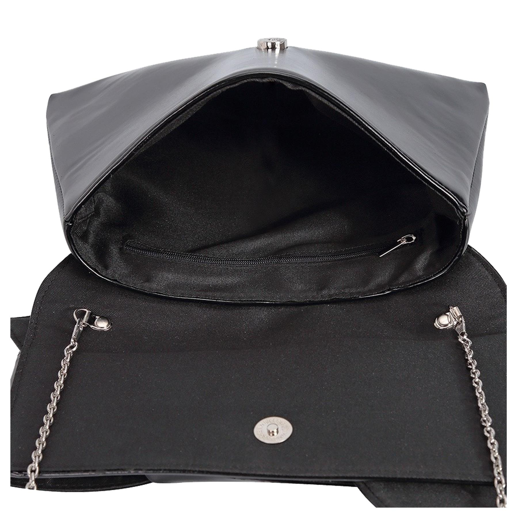 New-Knot-Detail-Shiny-Synthetic-Leather-Ladies-Party-Clutch-Bag-Purse thumbnail 4
