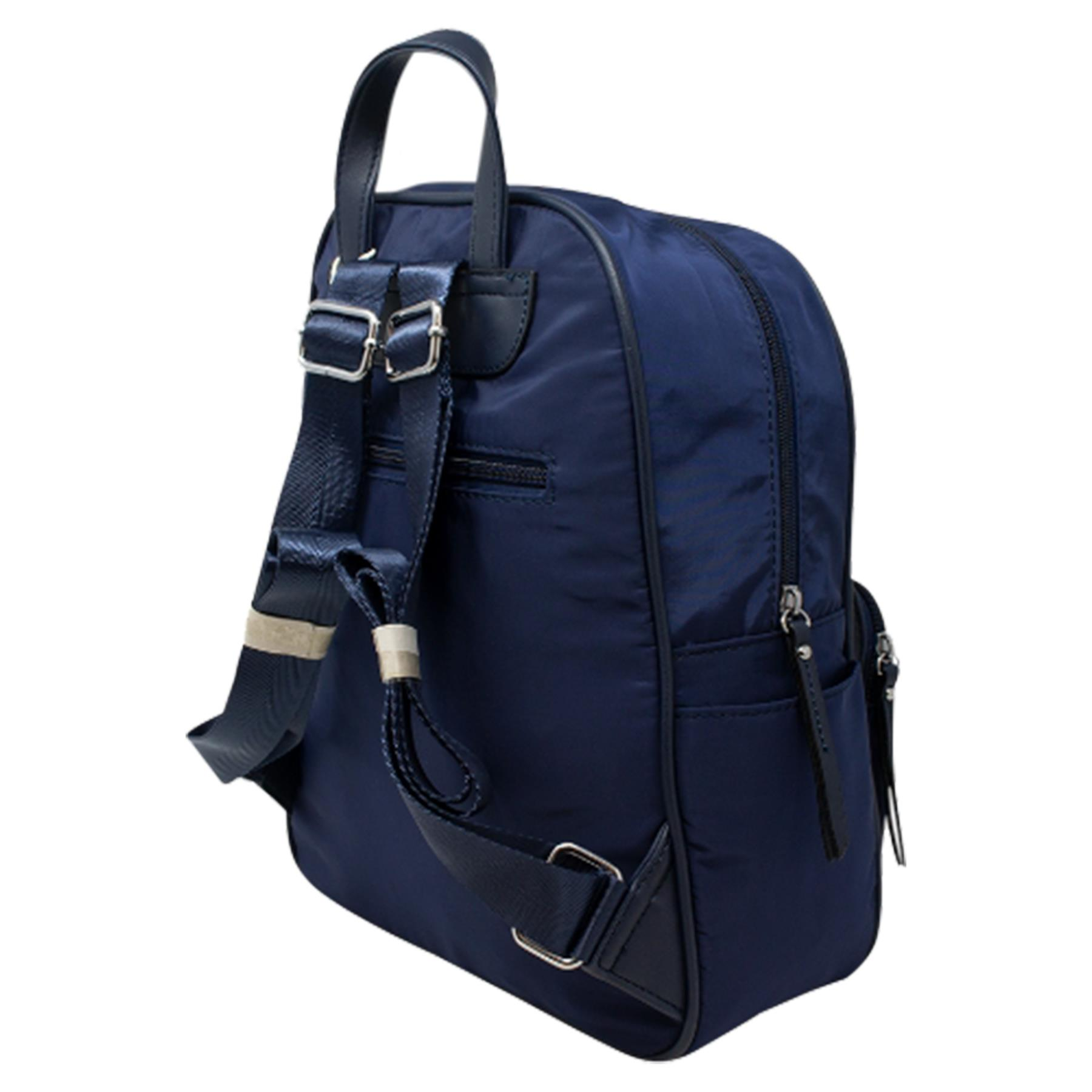 New-Unisex-Plain-Nylon-Showerproof-School-College-Backpack-Rucksack thumbnail 10
