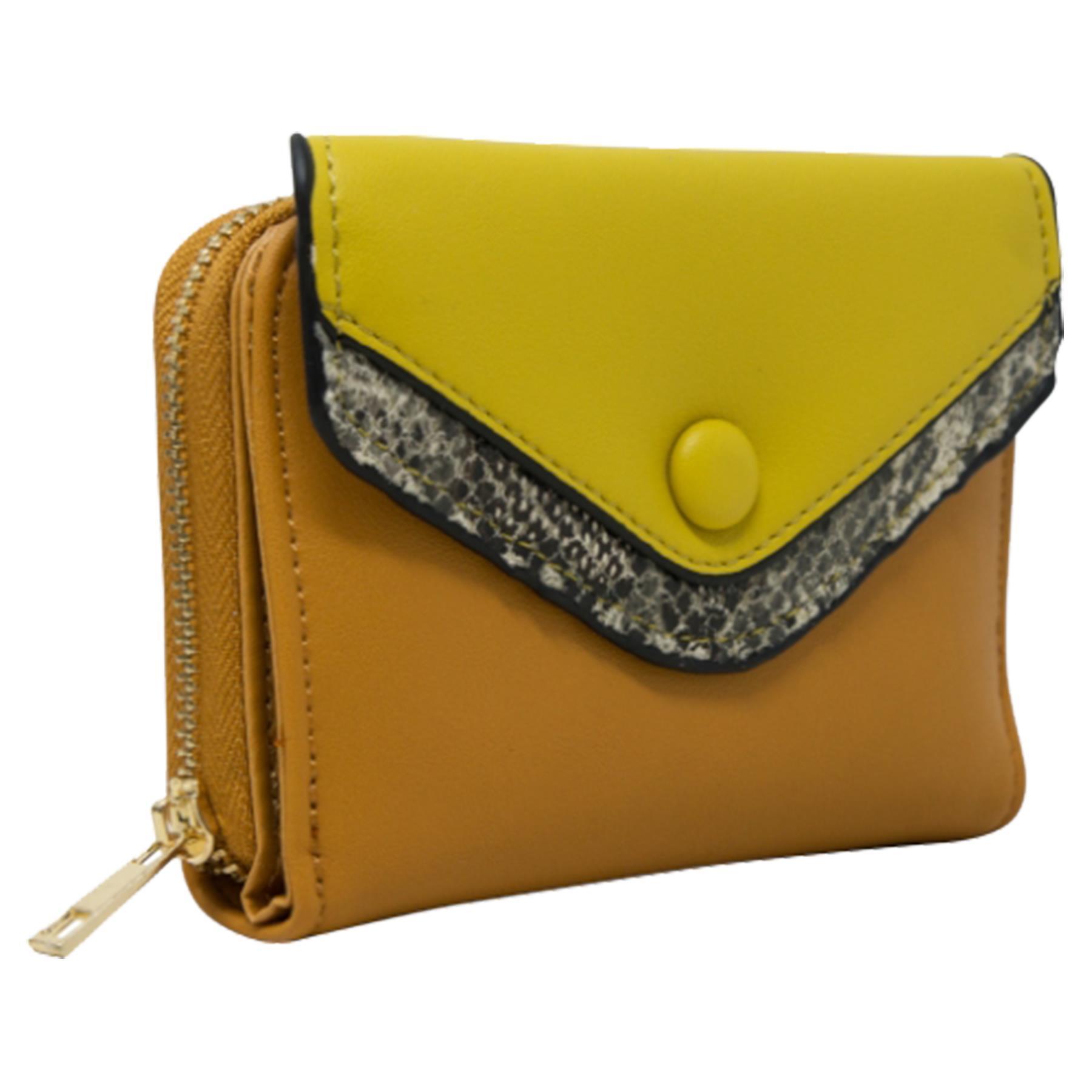 New-Ladies-Multicoloured-Envelope-Faux-Leather-Reptile-Detail-Purse thumbnail 15