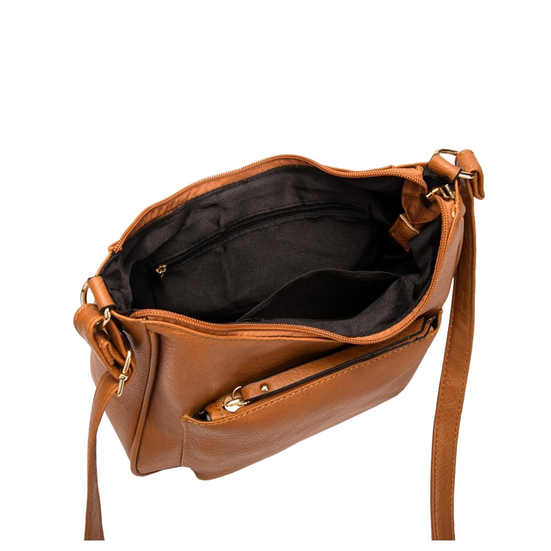New-Soft-Synthetic-Leather-Front-Pocket-Ladies-Casual-Crossbody-Bag-Handbag thumbnail 16