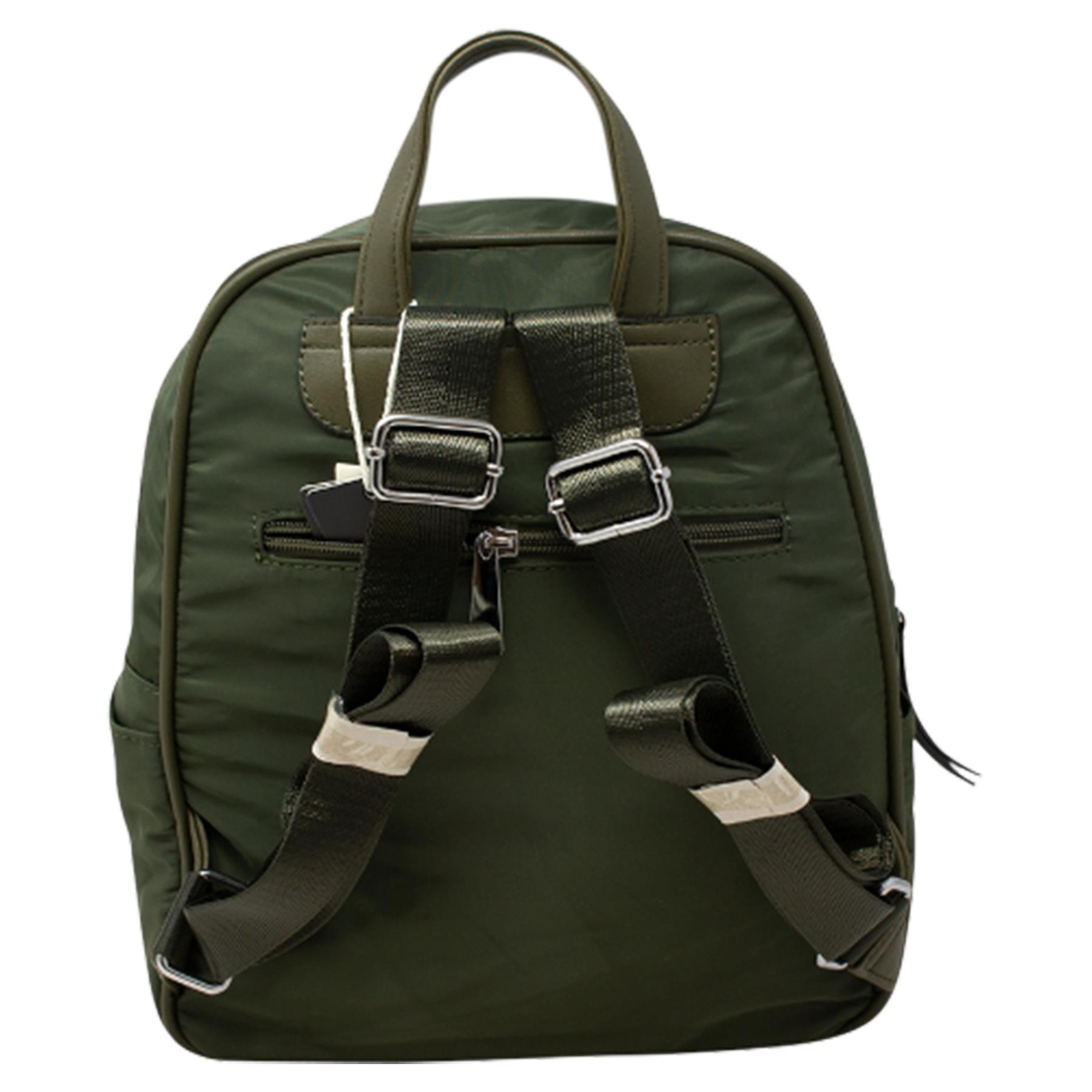 New-Unisex-Plain-Nylon-Showerproof-School-College-Backpack-Rucksack thumbnail 13