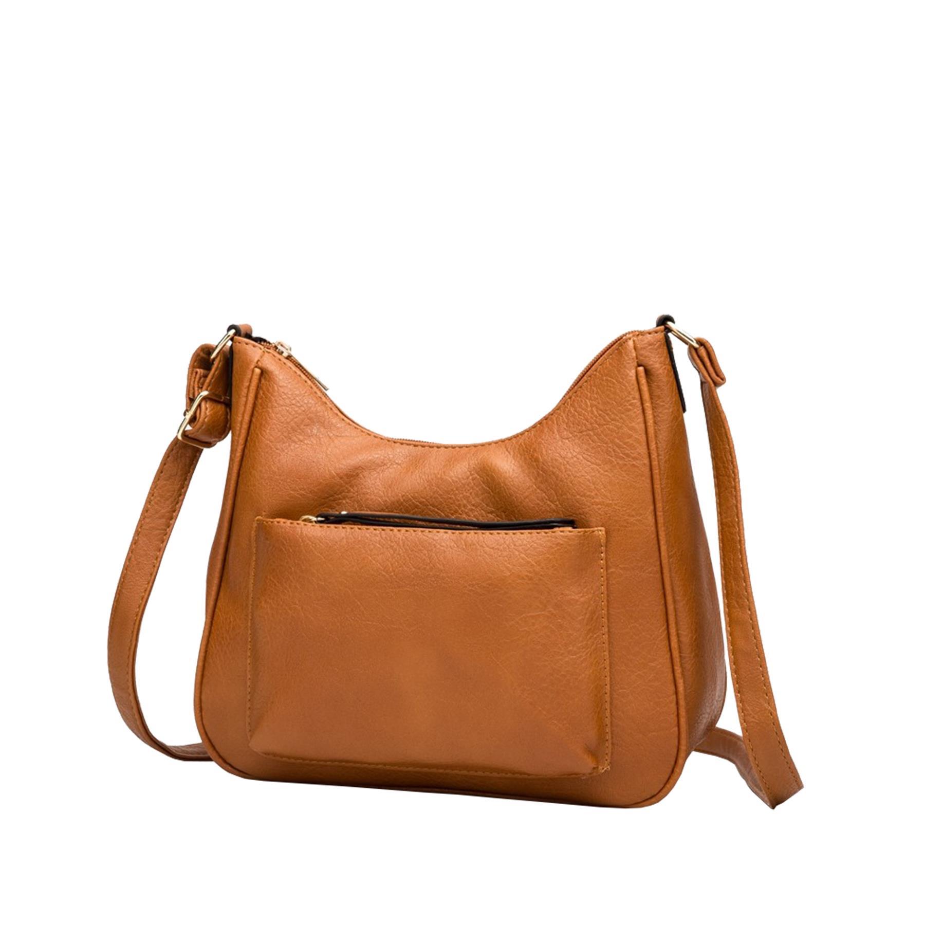 New-Soft-Synthetic-Leather-Front-Pocket-Ladies-Casual-Crossbody-Bag-Handbag thumbnail 15