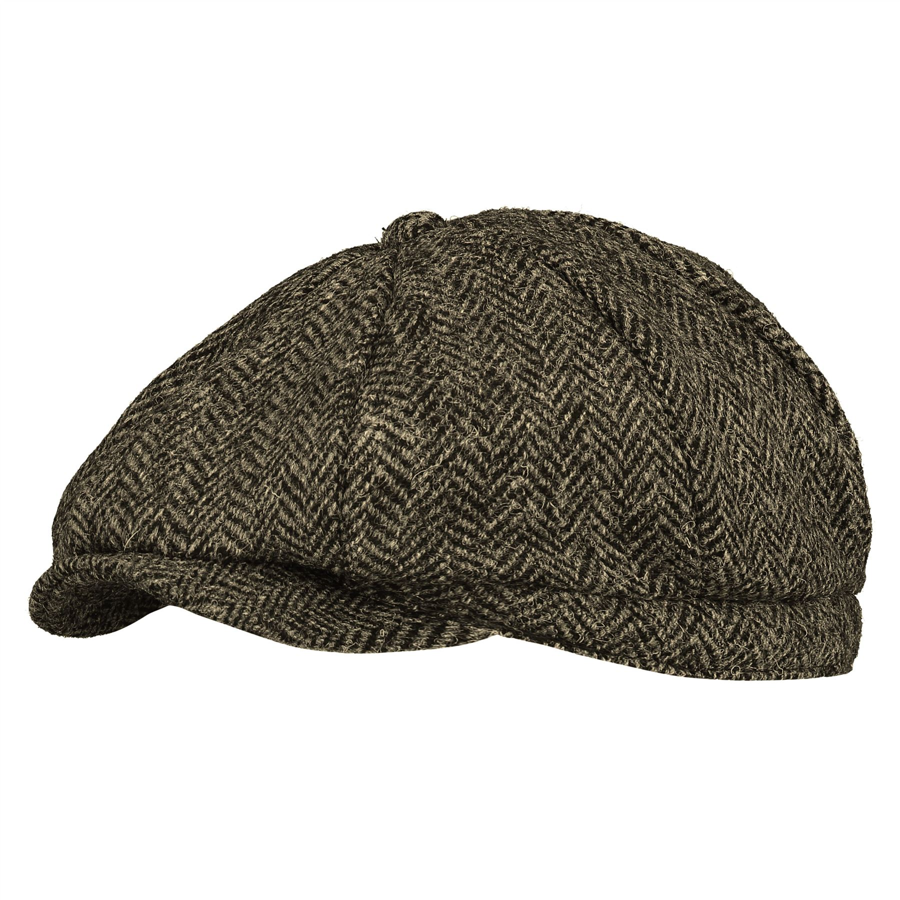 Image of Mens Bakerboy Hat - Tweed - 57