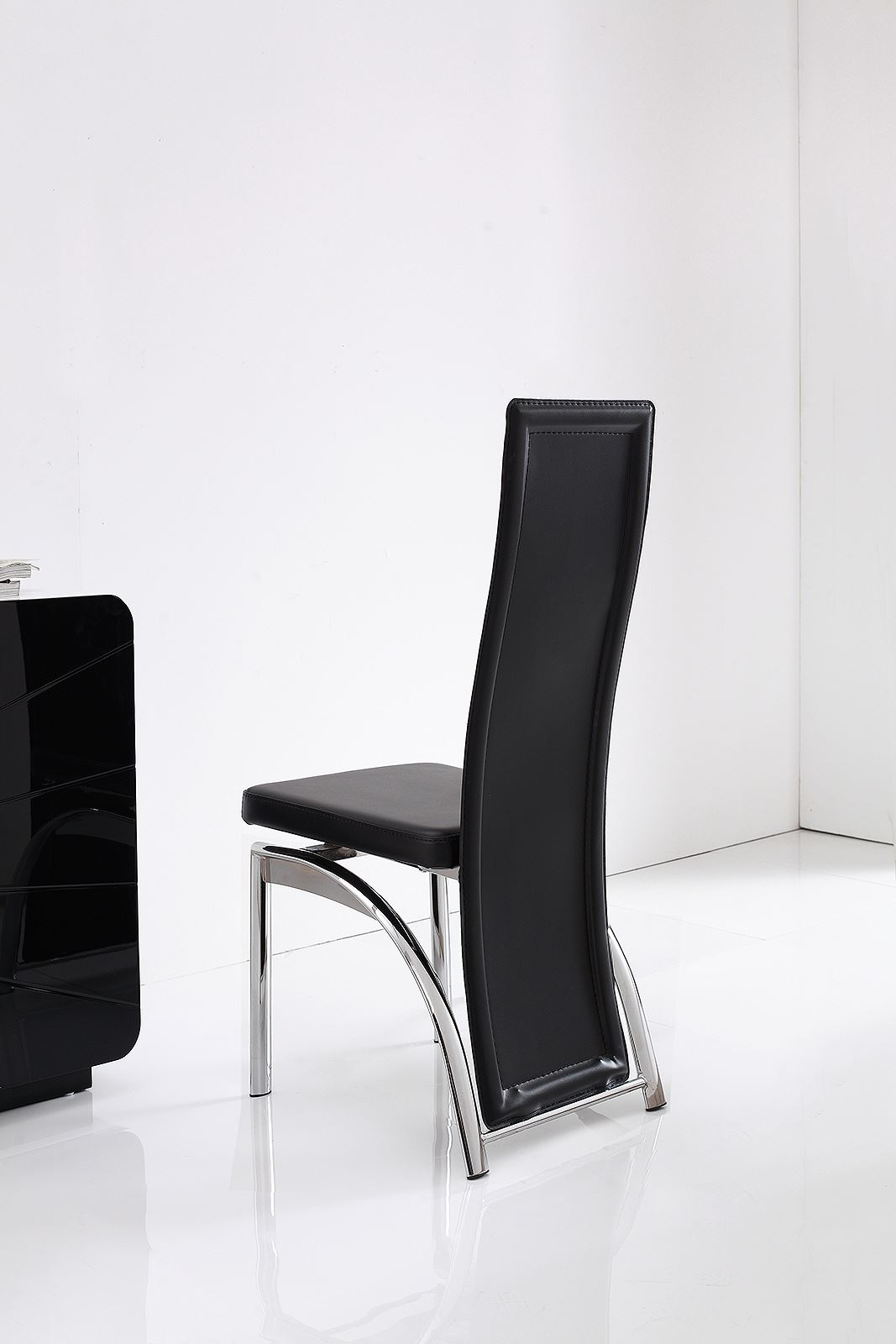Alisa Ivory Faux Leather Dining Room Chairs Kitchen