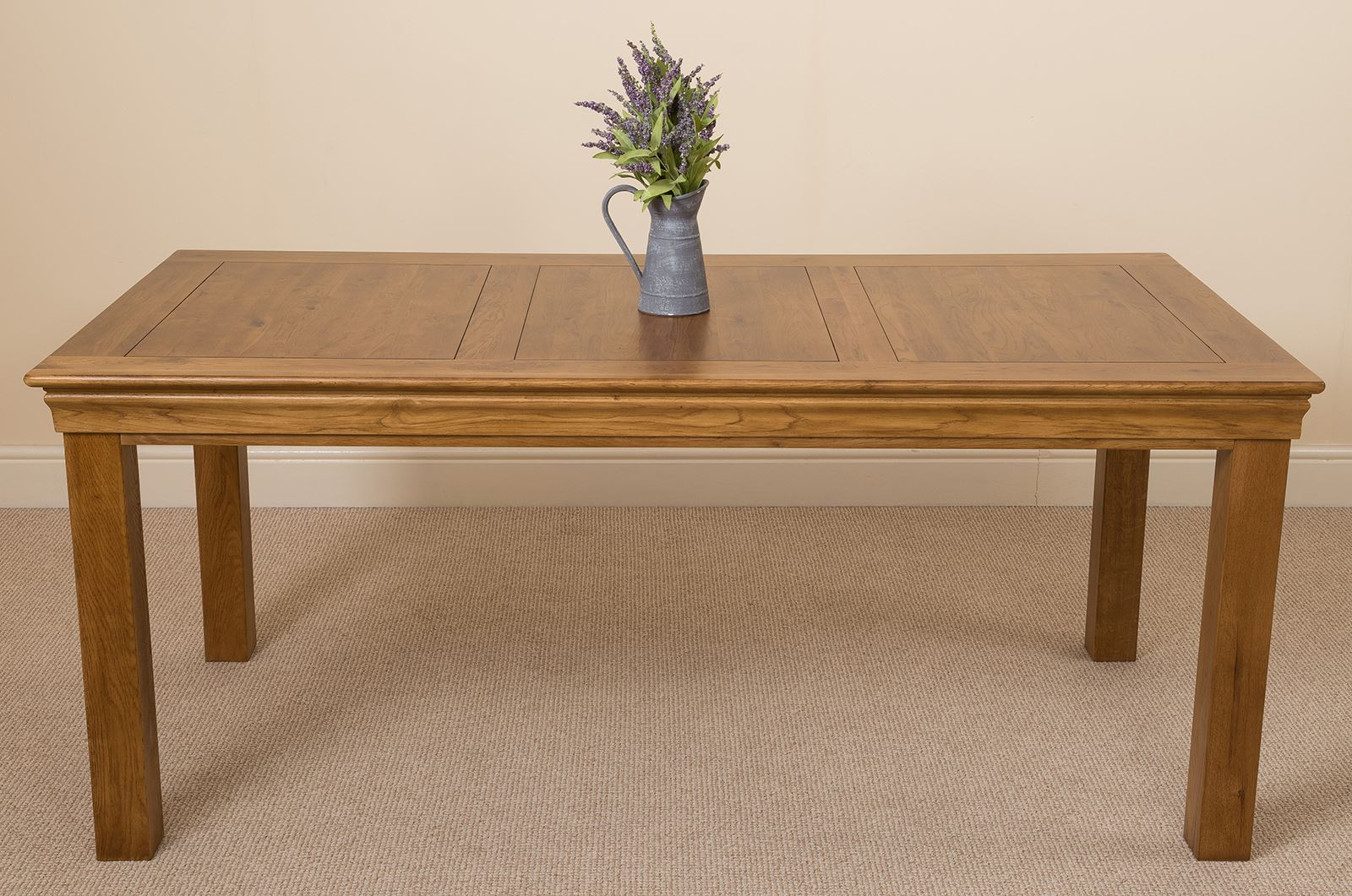 French Rustic 180cm Fixed Solid Oak Dining Table and 8  : 70ec0814 3551 48e7 9320 404a0d348fb9 from picclick.co.uk size 1600 x 1061 jpeg 278kB
