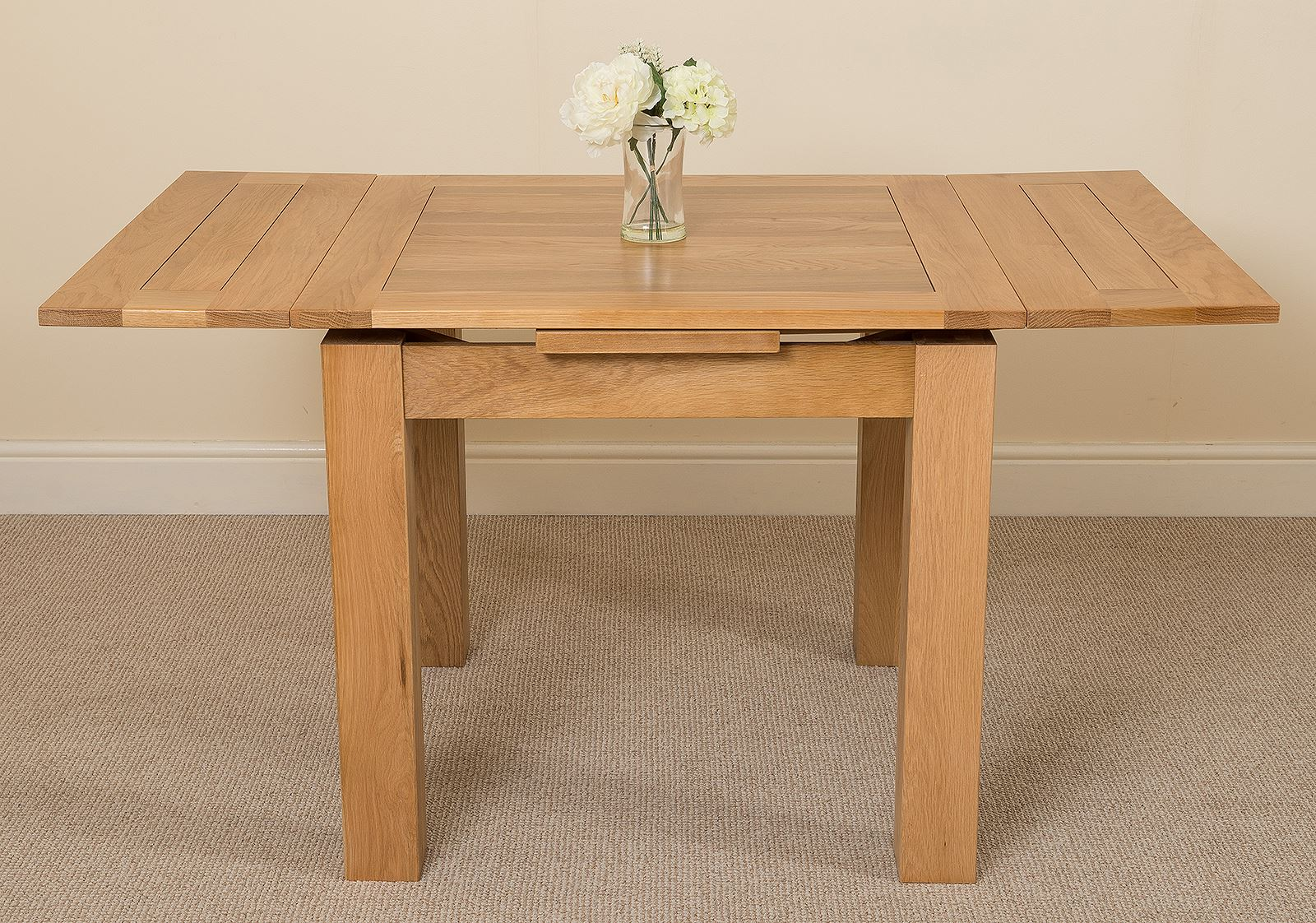 Richmond Solid Oak Wood Small 90 150cm Extending Dining