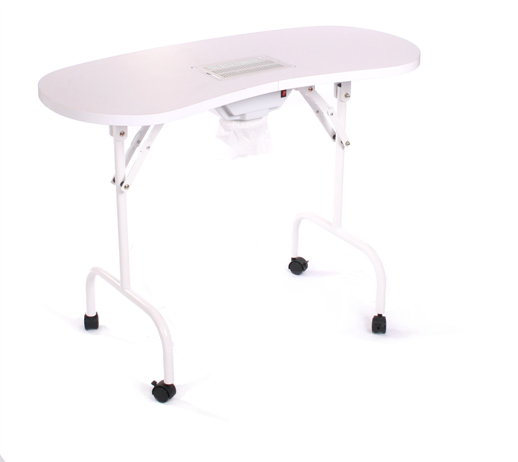 Urbanity portable mobile manicure nail table with extractor fan dust ...