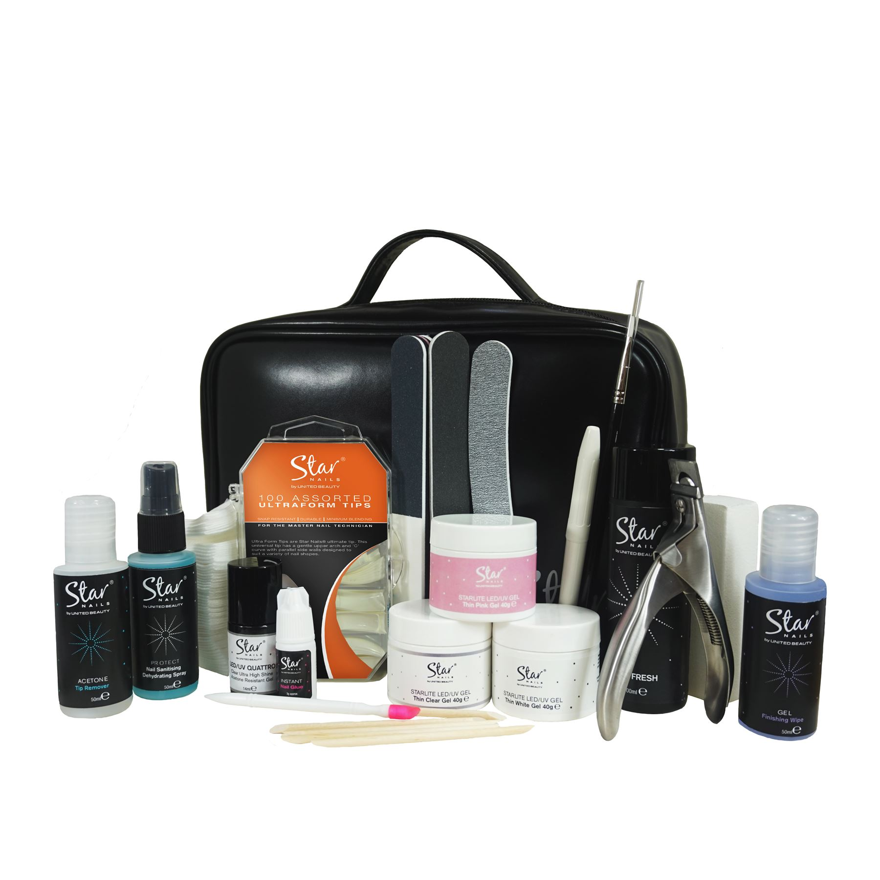 Professional Gel Nail System: Star Nails Builder Gel Complete Kit Nail Technician