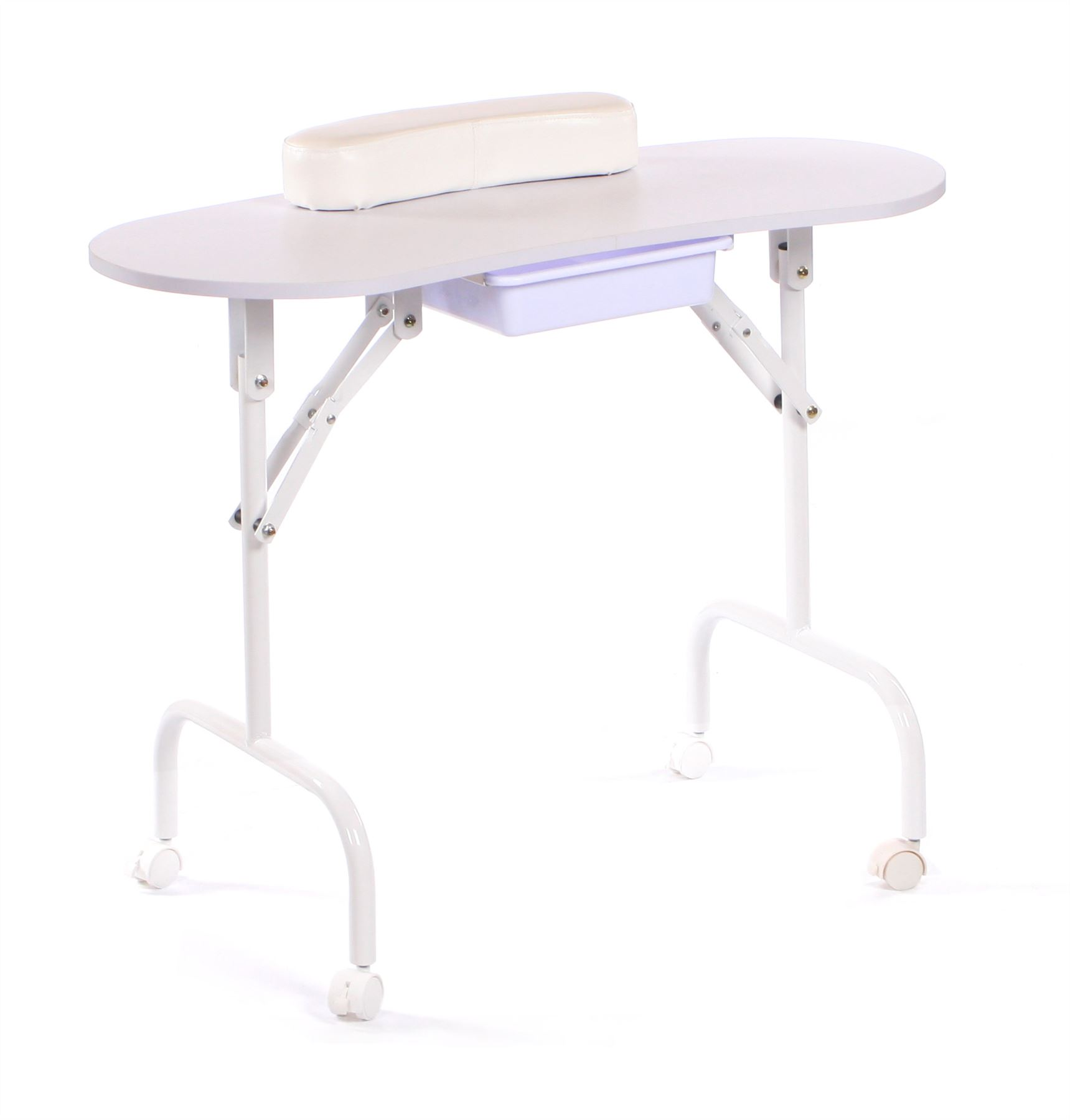 Portable Manicure Table by Urbanity Folding Mobile Compact Nail ...