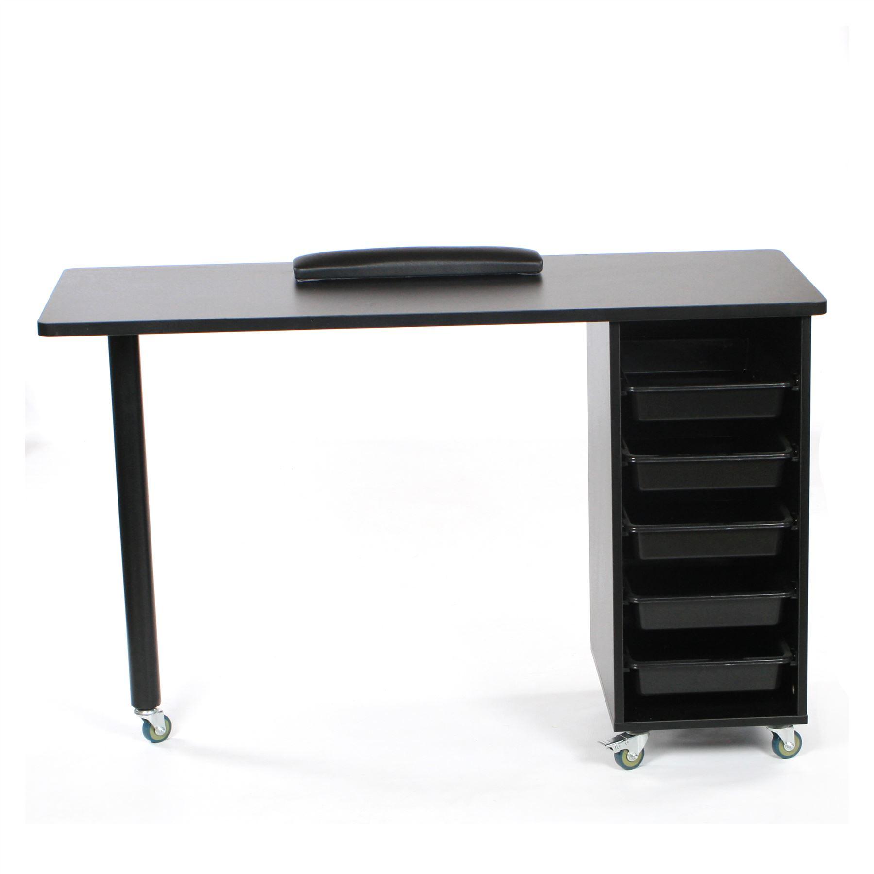 Urbanity Metro Nail Technician Desk Table Salon Manicure Workstation ...