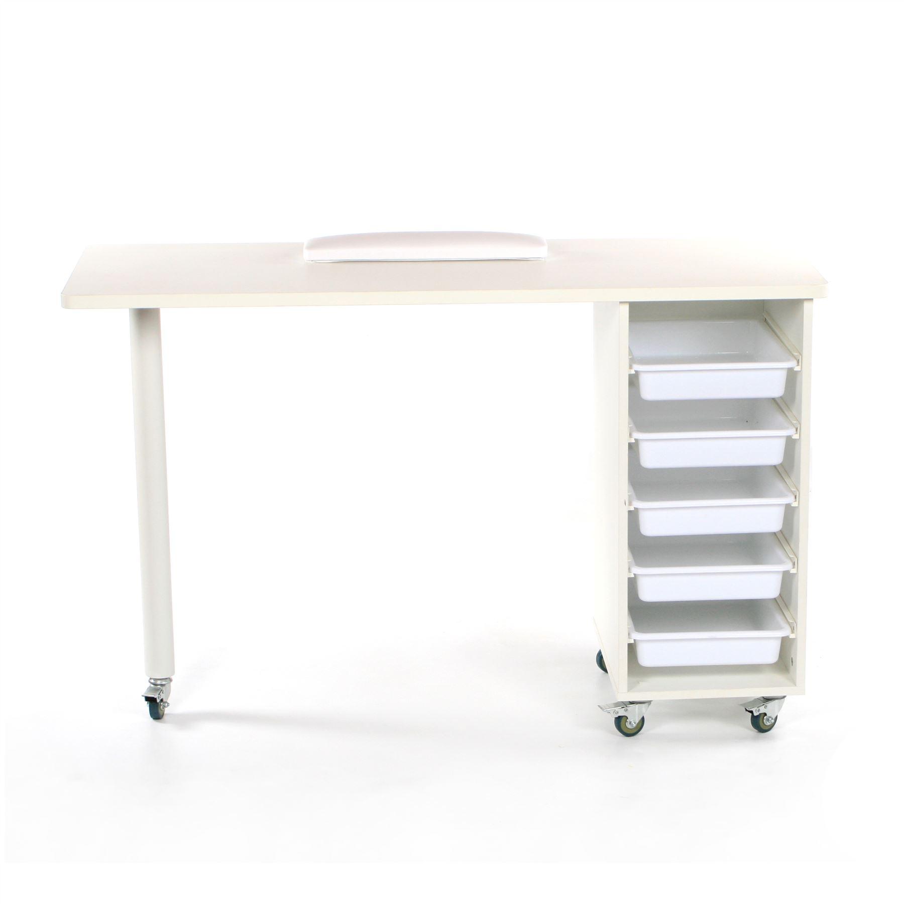 Urbanity Metro Nail Technician Desk Manicure Table Salon Workstation ...
