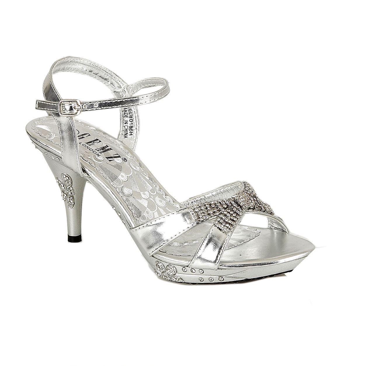 279 Womens Wedding Sandals High Heel Diamante Evening Prom Party Gemz London