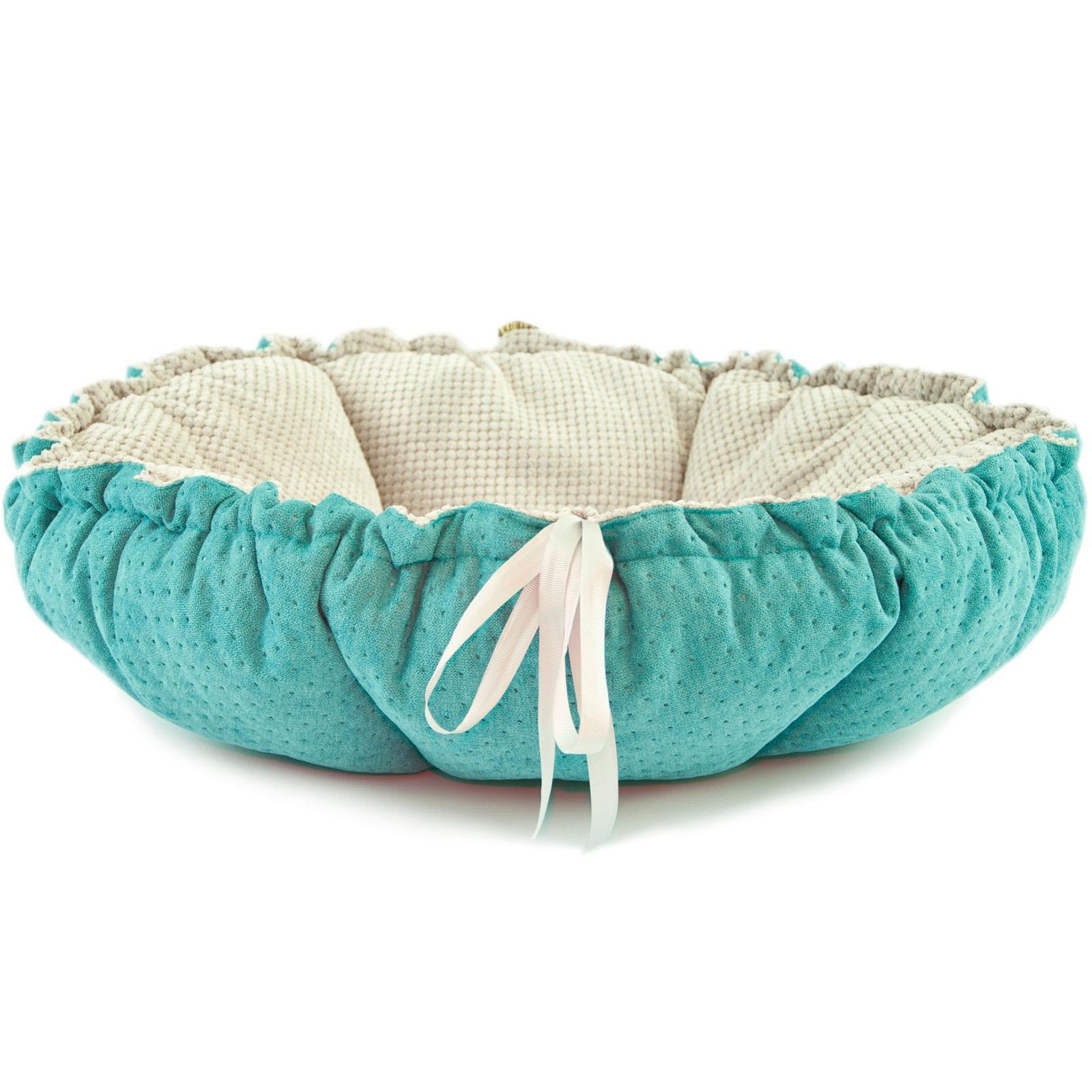 Handmade Dark Blue /& Grey 65cm Handmade Pet Cat Dog Puppy Basket Cushion Bed Sofa Mattress UK