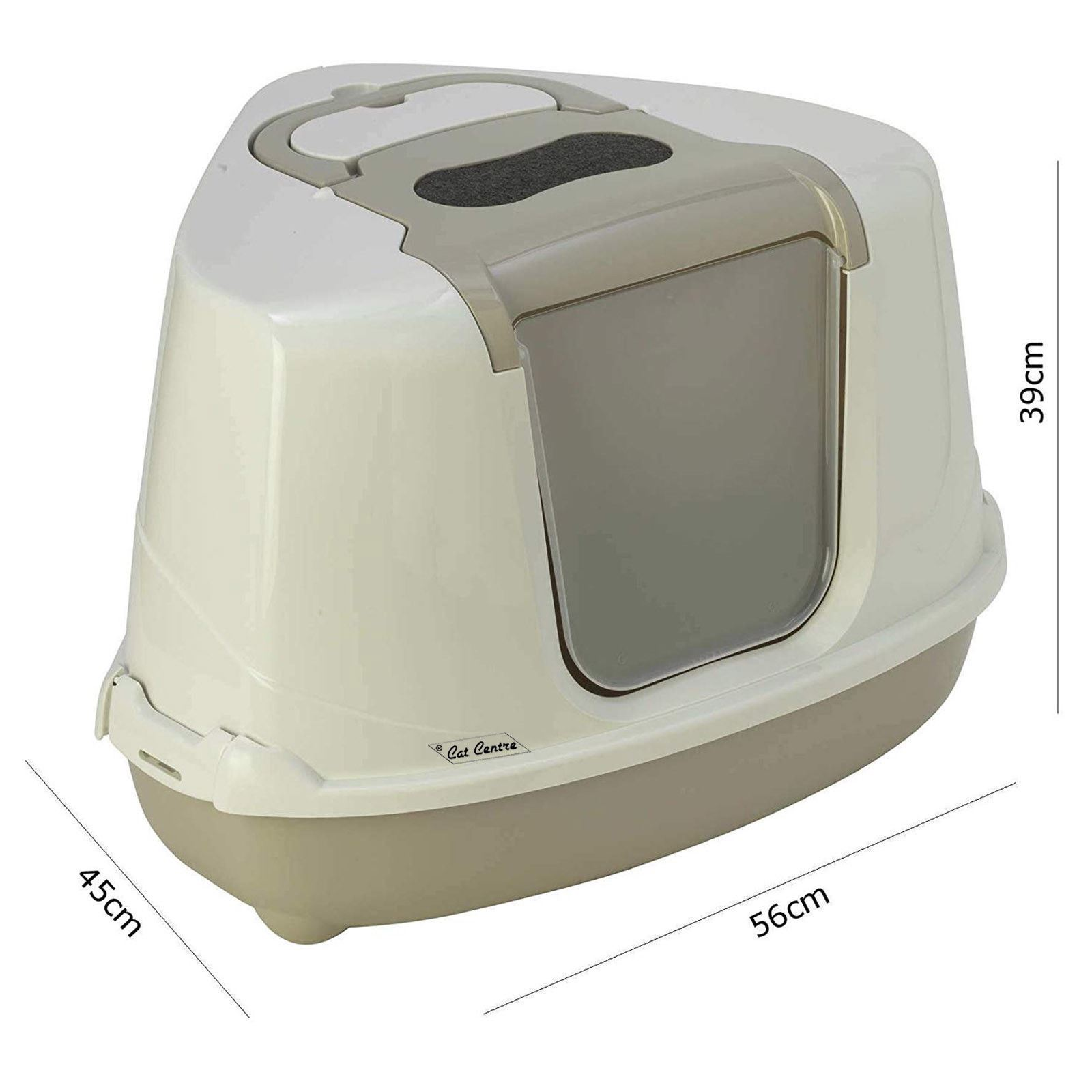 Catcentre 174 Large Hooded Corner Cat Litter Tray Toilet