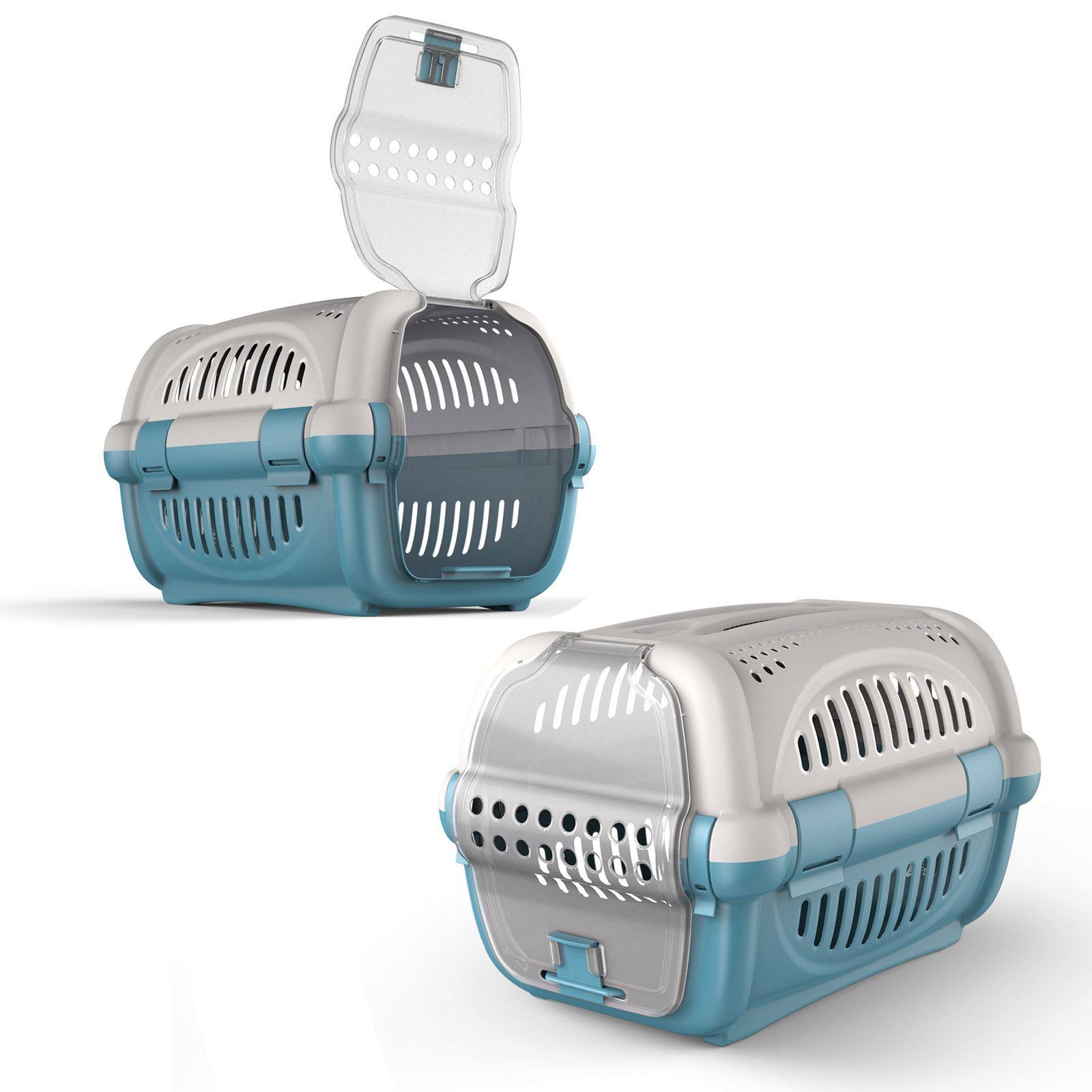Pet-Premium-Carrier-Kitten-Cat-Dog-Transport-Travel-Box-Cage-Vet-Carry