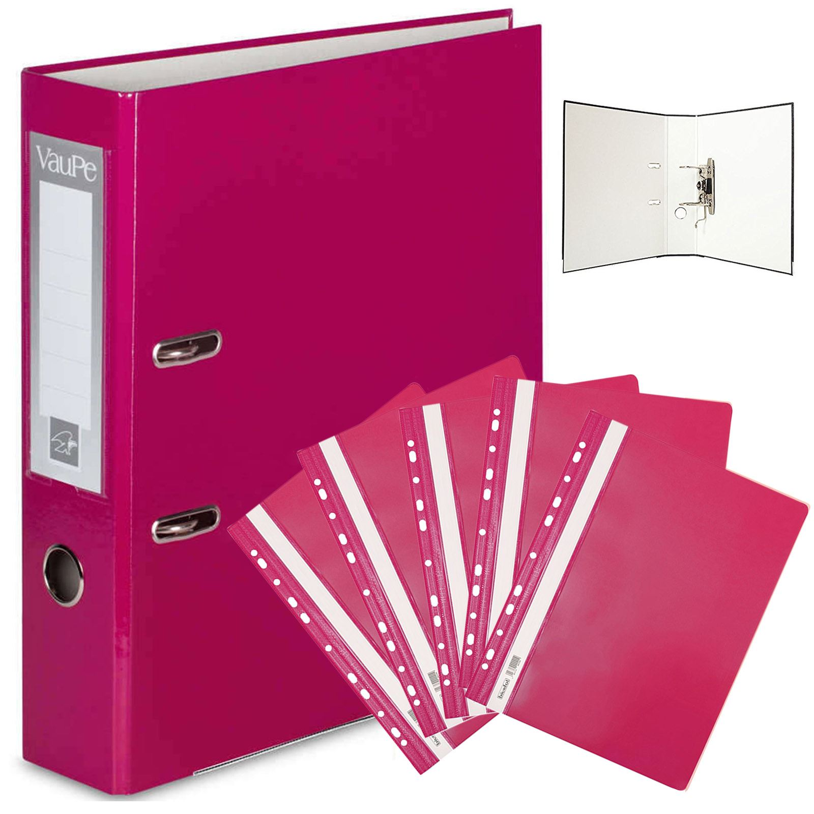 OfficeCentre® Large A4 Red Lever Arch File Folder /& 5 Red Subject Dividers