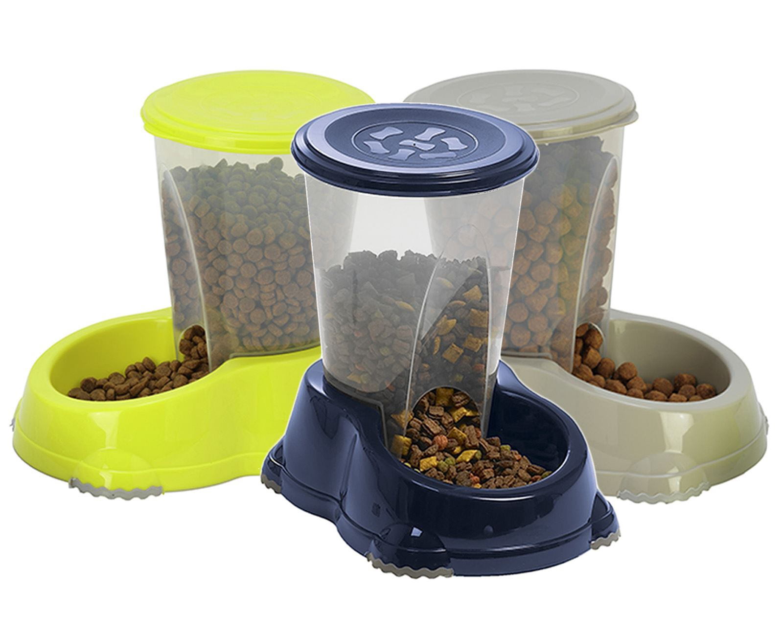 Gravity Pet Feeder 1 5l Cat Dog Kitten Dry Food Bowl Automatic Dispenser Feed Uk Ebay